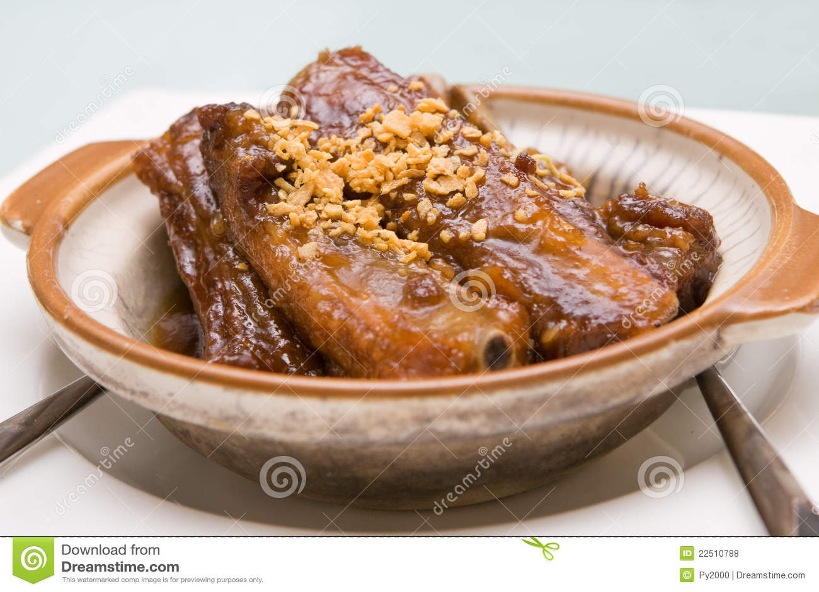 Nervures de porc chinoises