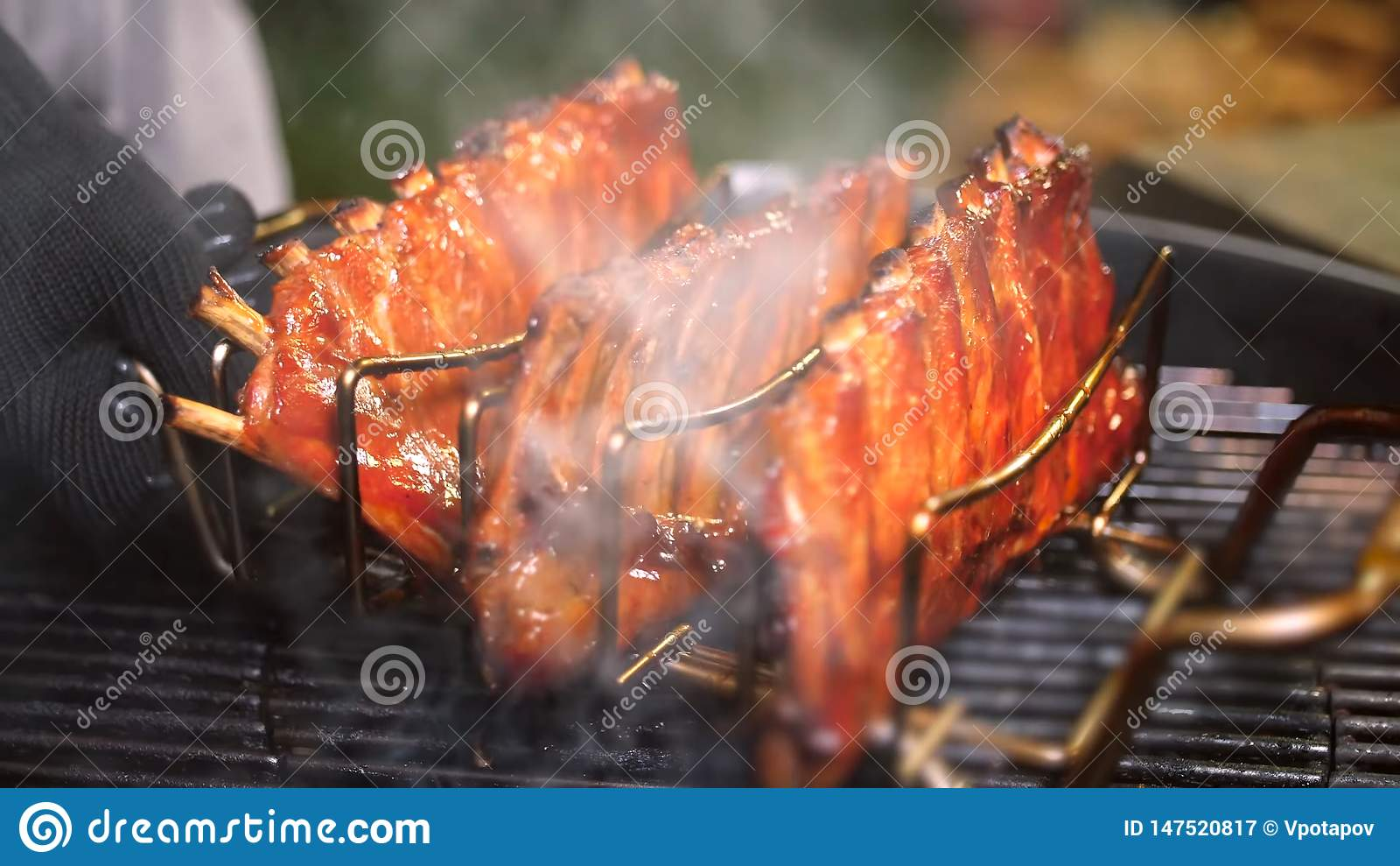 Nervures de porc grill?es Viande, juteuse