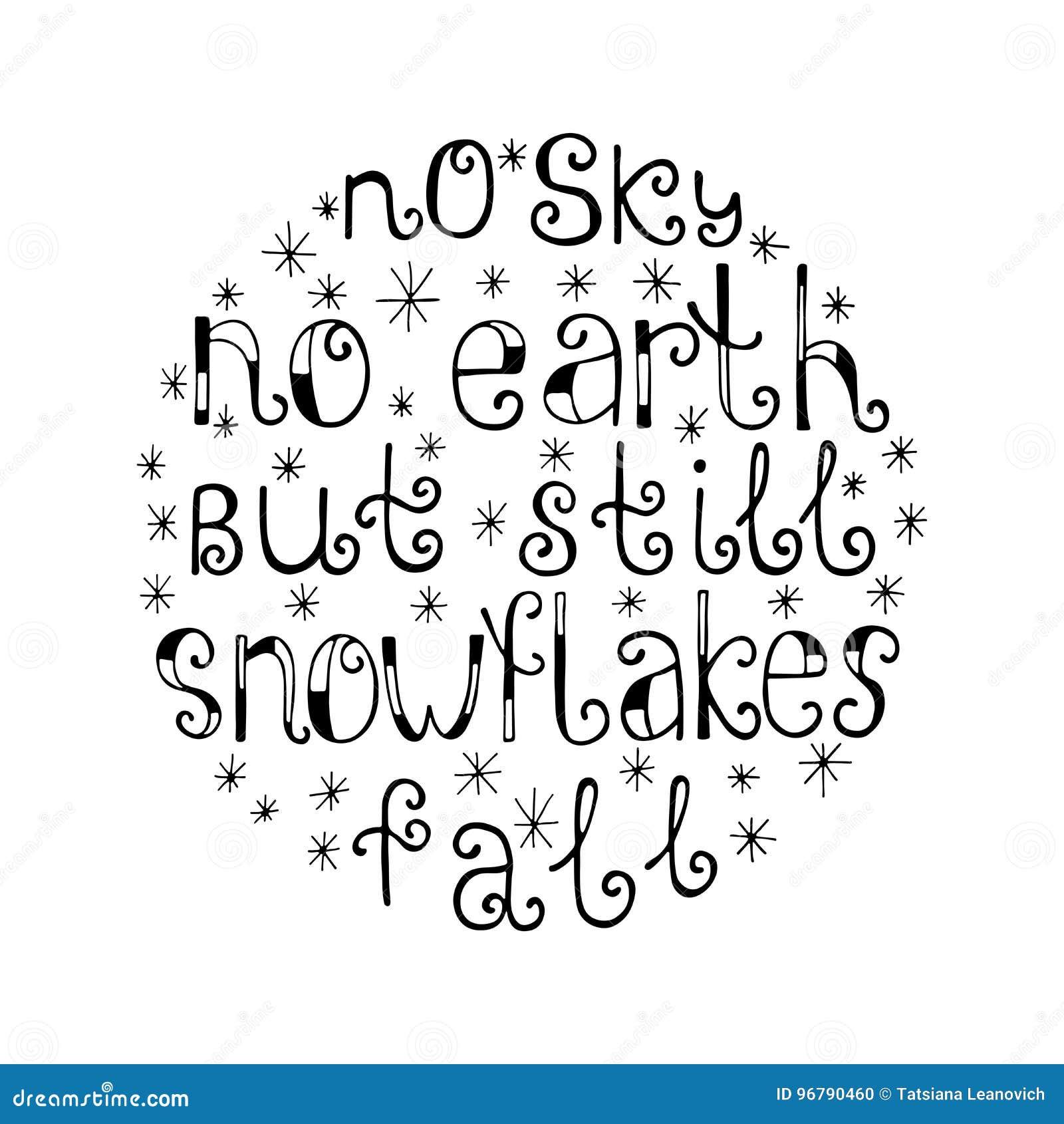 Nessun Cielo Nessuna Terra Ma Ancora Fiocchi Di Neve Cade Fondo Di