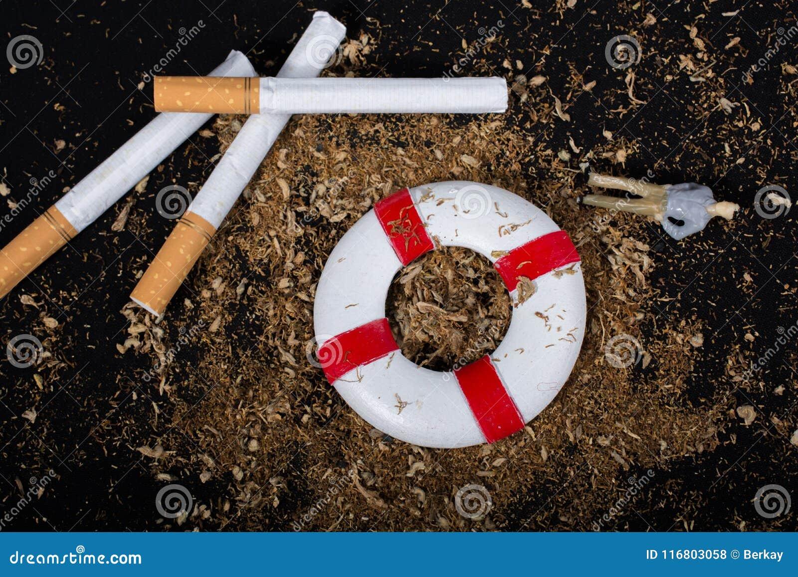 Nessun manifesto del giorno del tabacco per dice no il concetto di fumo