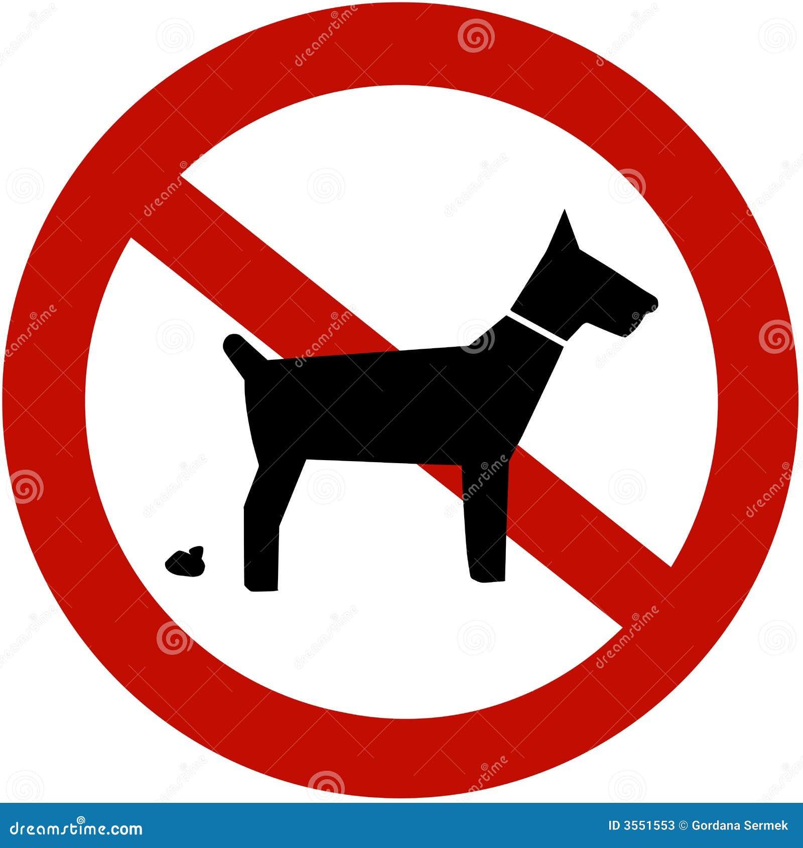 Nessun pooping dei cani permesso
