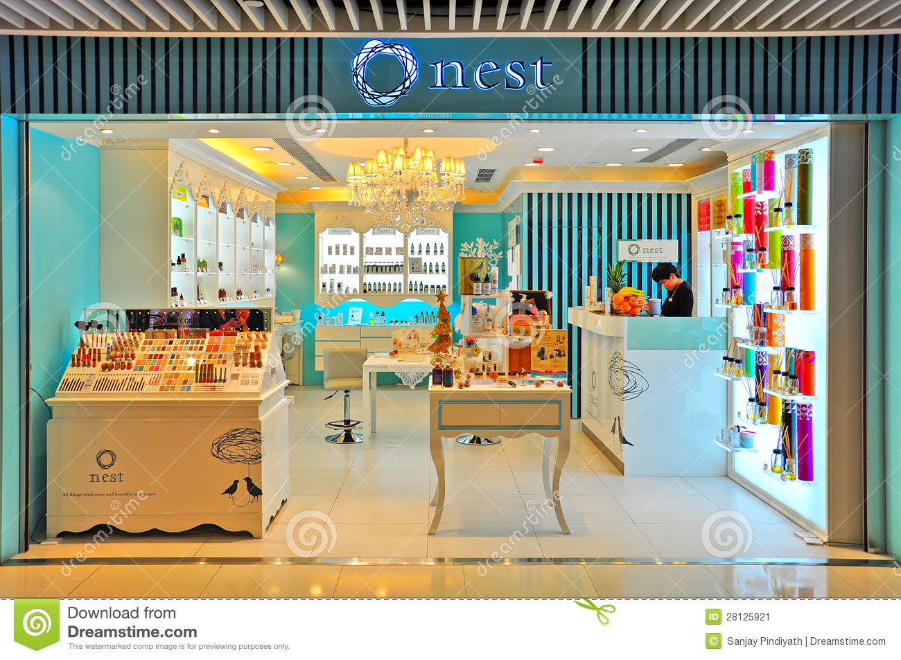Nest Beauty Care Products Outlet  Hong Kong Editorial