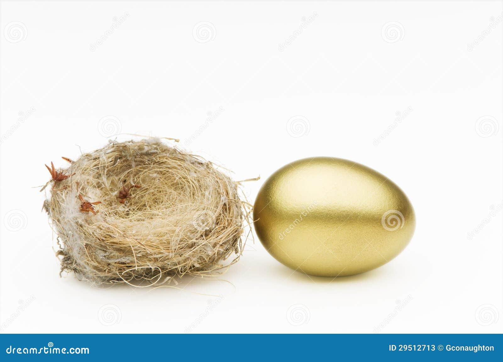 Nest en gouden ei