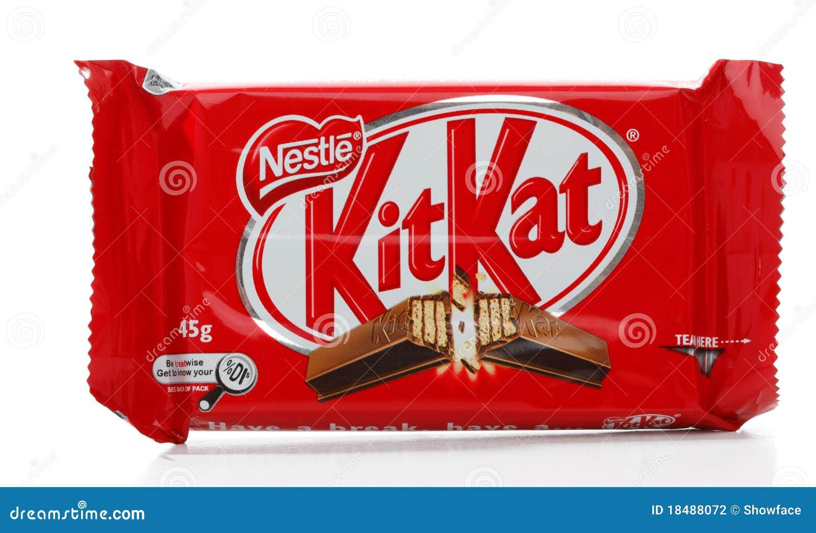 nestle kit kat chocolate bar editorial photography image of
