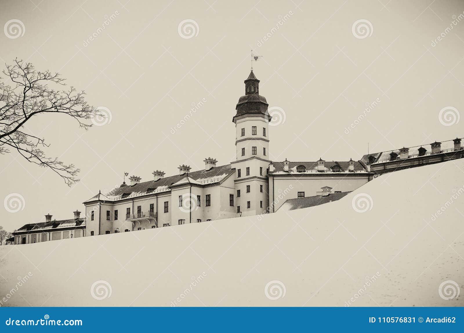 Nesvizh slott Vinter