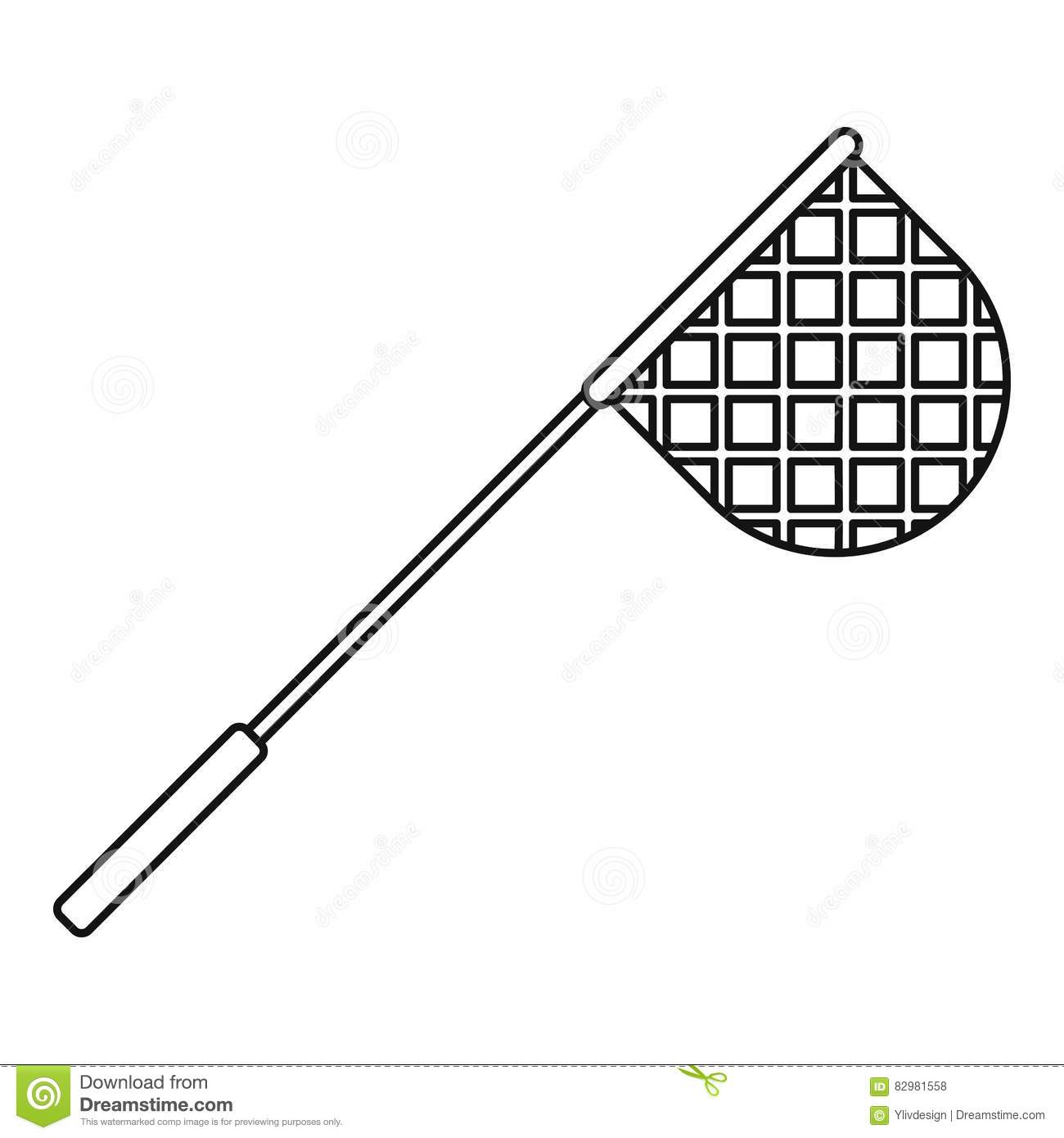 Net For Fishing Icon Outline Style Stock Vector Image