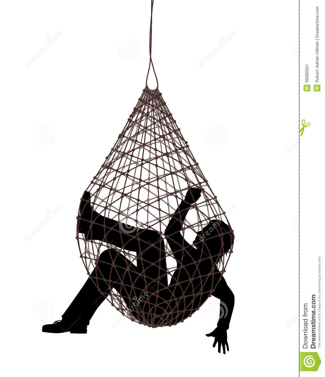 People Caught in Net Trap