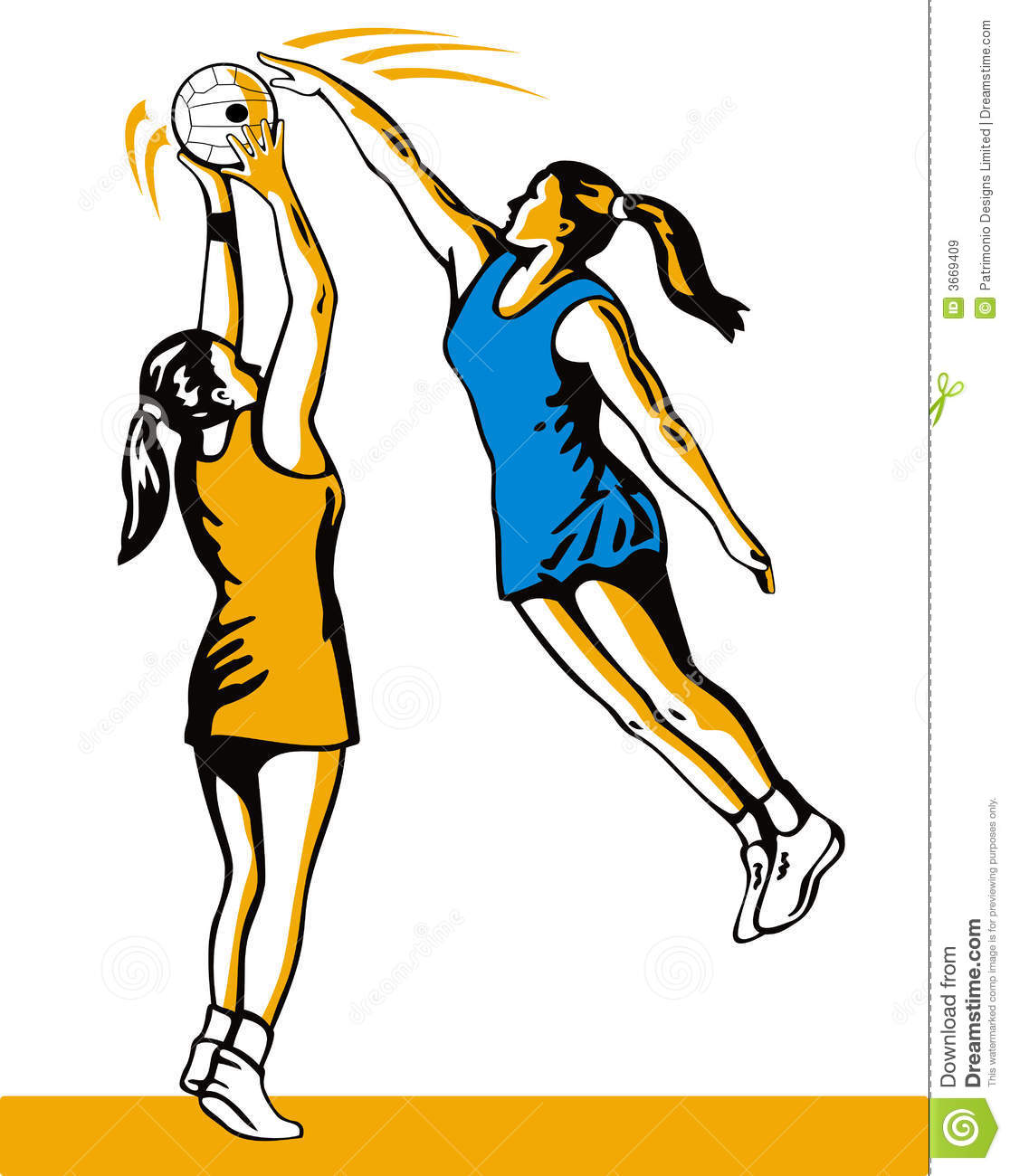 Netball Player Blocking The Sh Stock Vector - Image: 3669409