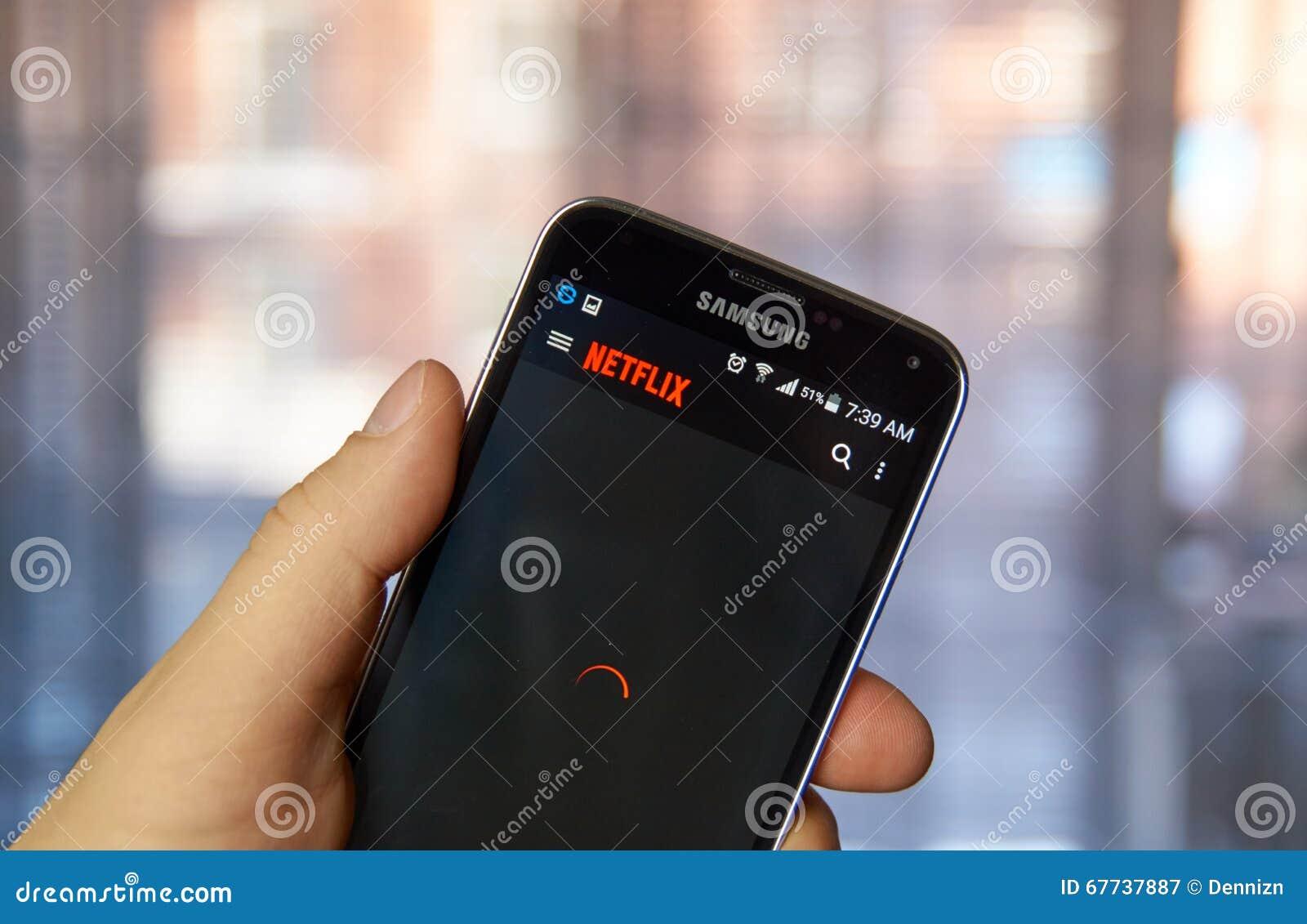 Netflix-Anwendung am Handy