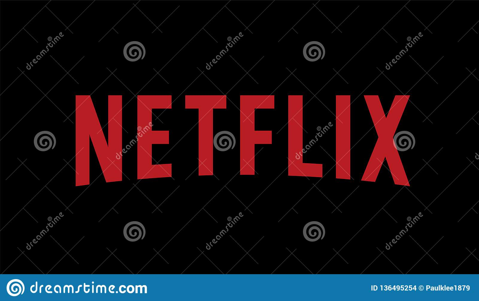 Netflix Logo Editorial Vector