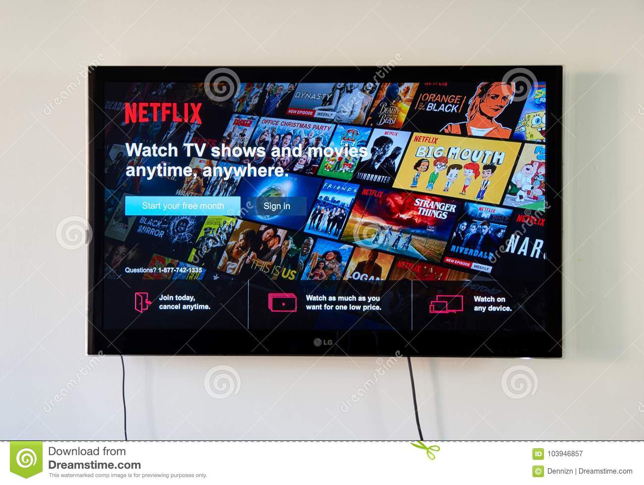 Netflix Sign In page on LG TV.