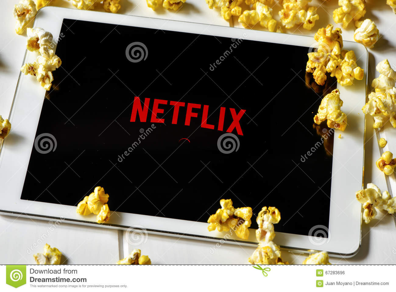 Netflix In A Tablet Computer Editorial Photo - Image of