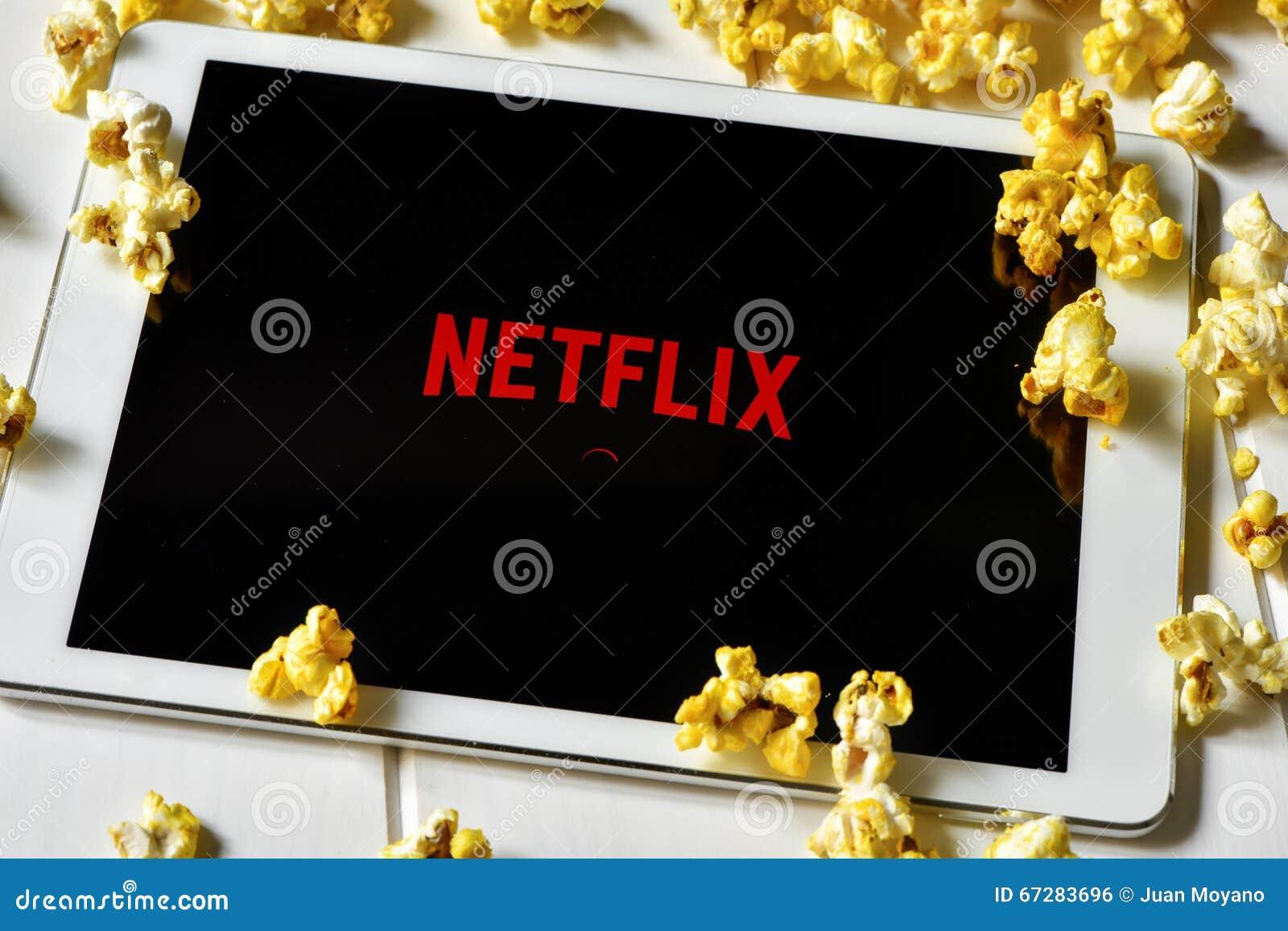 Netflix in un computer della compressa