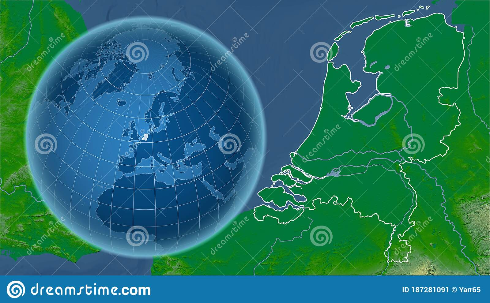 Image of: Netherlands Physical Country And Globe Composition Stock Illustration Illustration Of Globe Netherlands 187281091