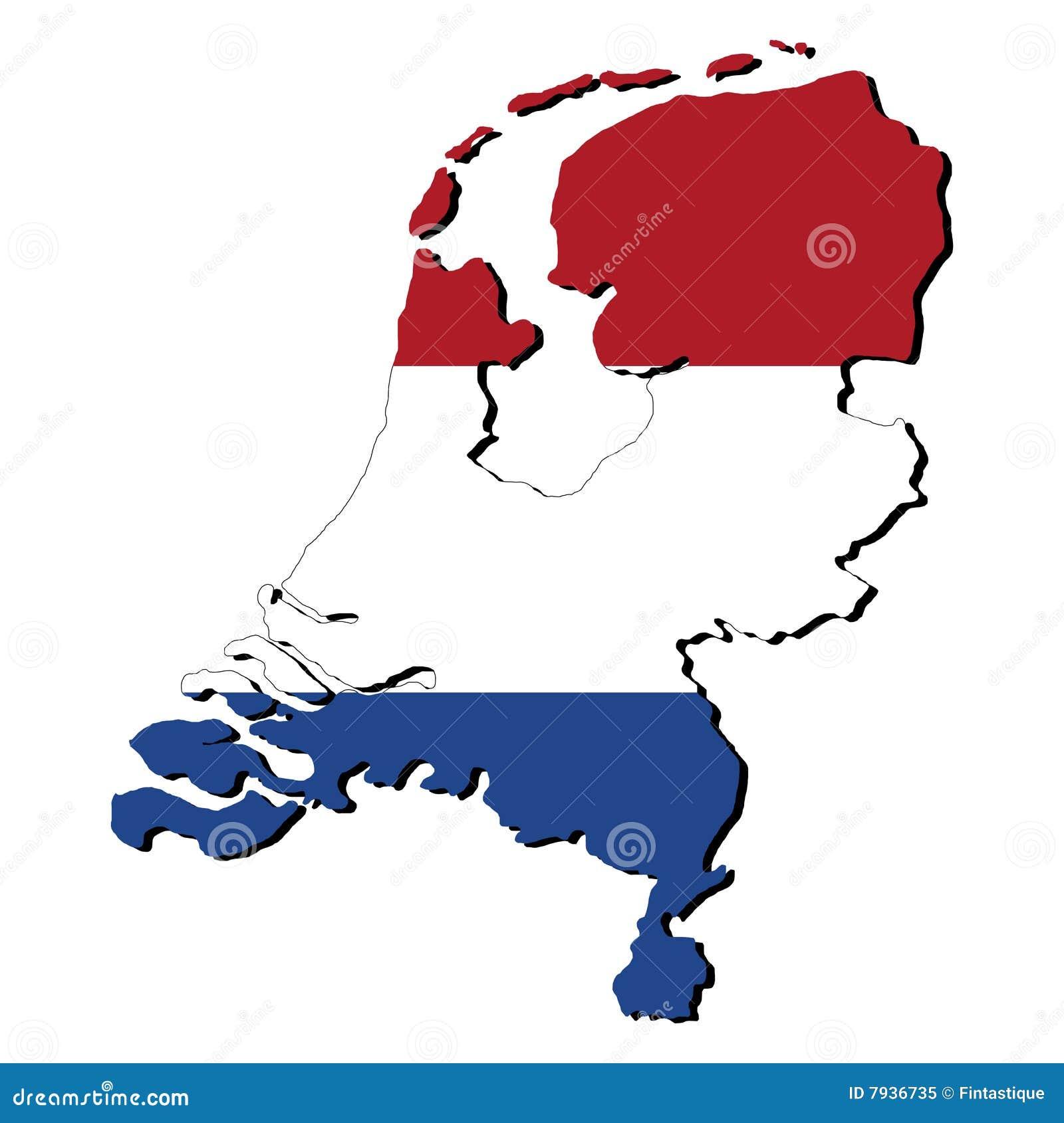 Netherlands map flag stock illustration Illustration of