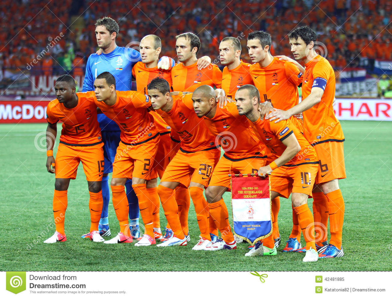Netherlands National Football Team Editorial Image