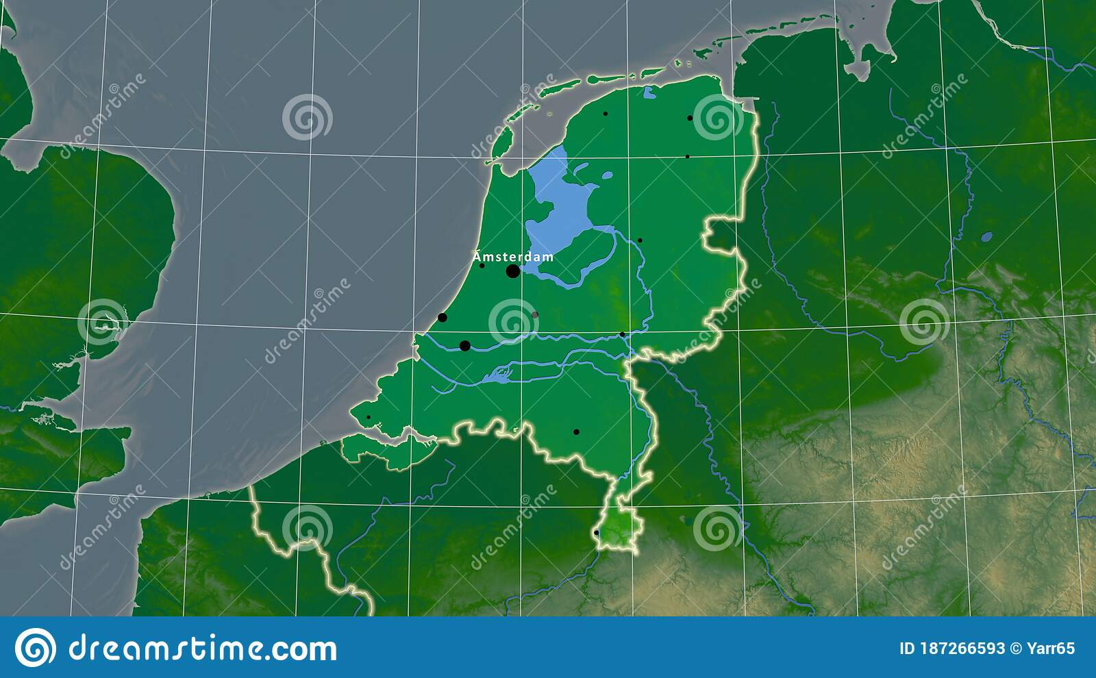 Image of: Netherlands Physical Composition Borders Stock Illustration Illustration Of Area Territory 187266593