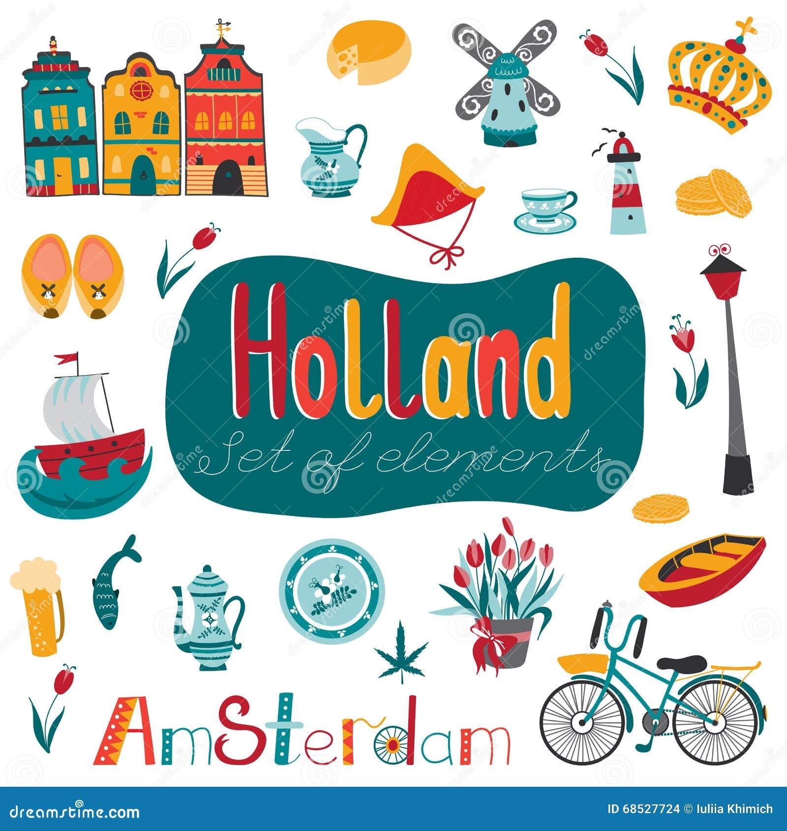 Netherlands set of elements stock vector illustration of light netherlands set of elements m4hsunfo