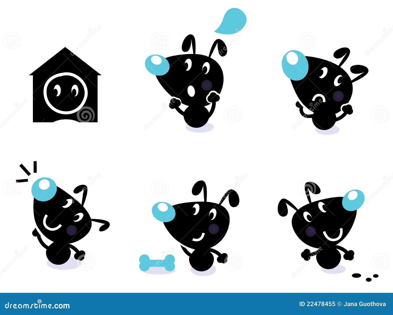 Nette Hundeansammlung - vektorelemente