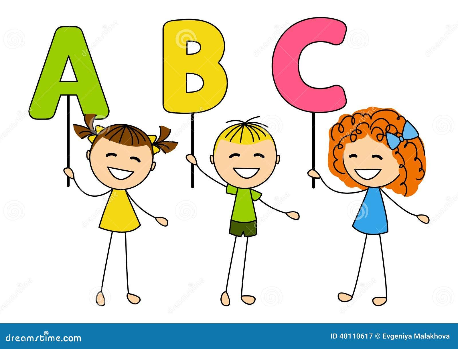 Lizenzfreie Stockfotografie Nette Kleinkinder Mit Abc Buchstaben Image40110617 on Preschool Letter Z