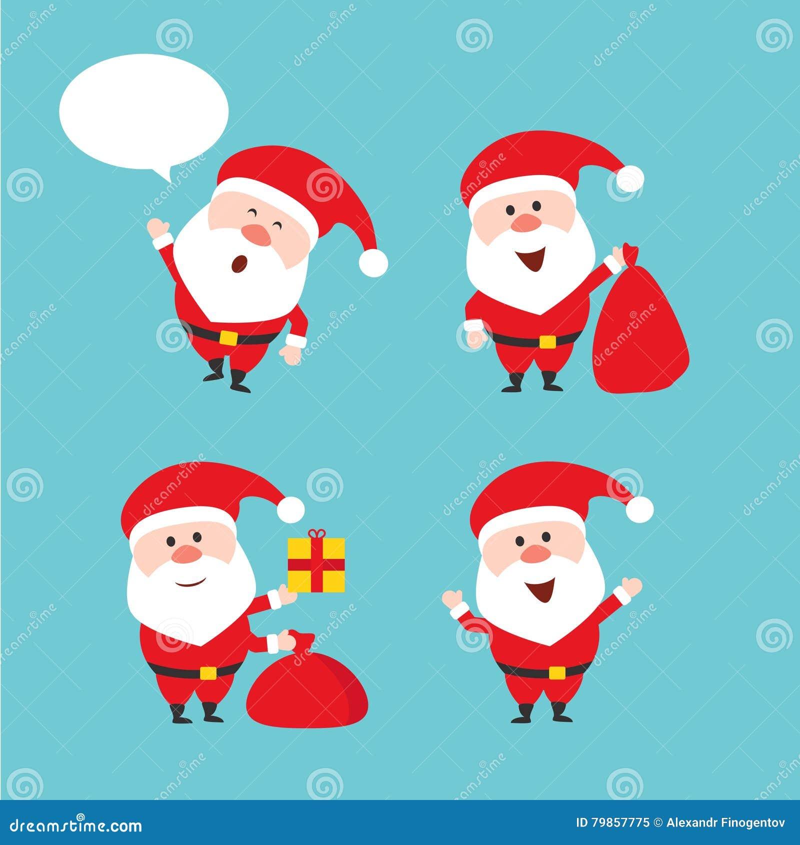 Frohe Weihnachten Lustige Bilder.Nette Lustige Santa Claus Karikatur Polar Mit Herzen Frohe