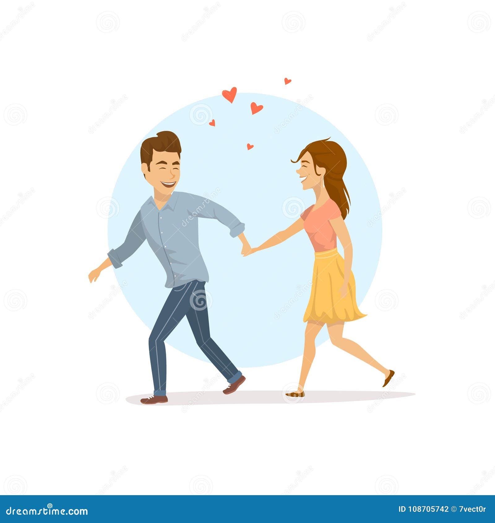 Nette Paare In Der Liebe, Mann Bitten Frau Zu Folgen