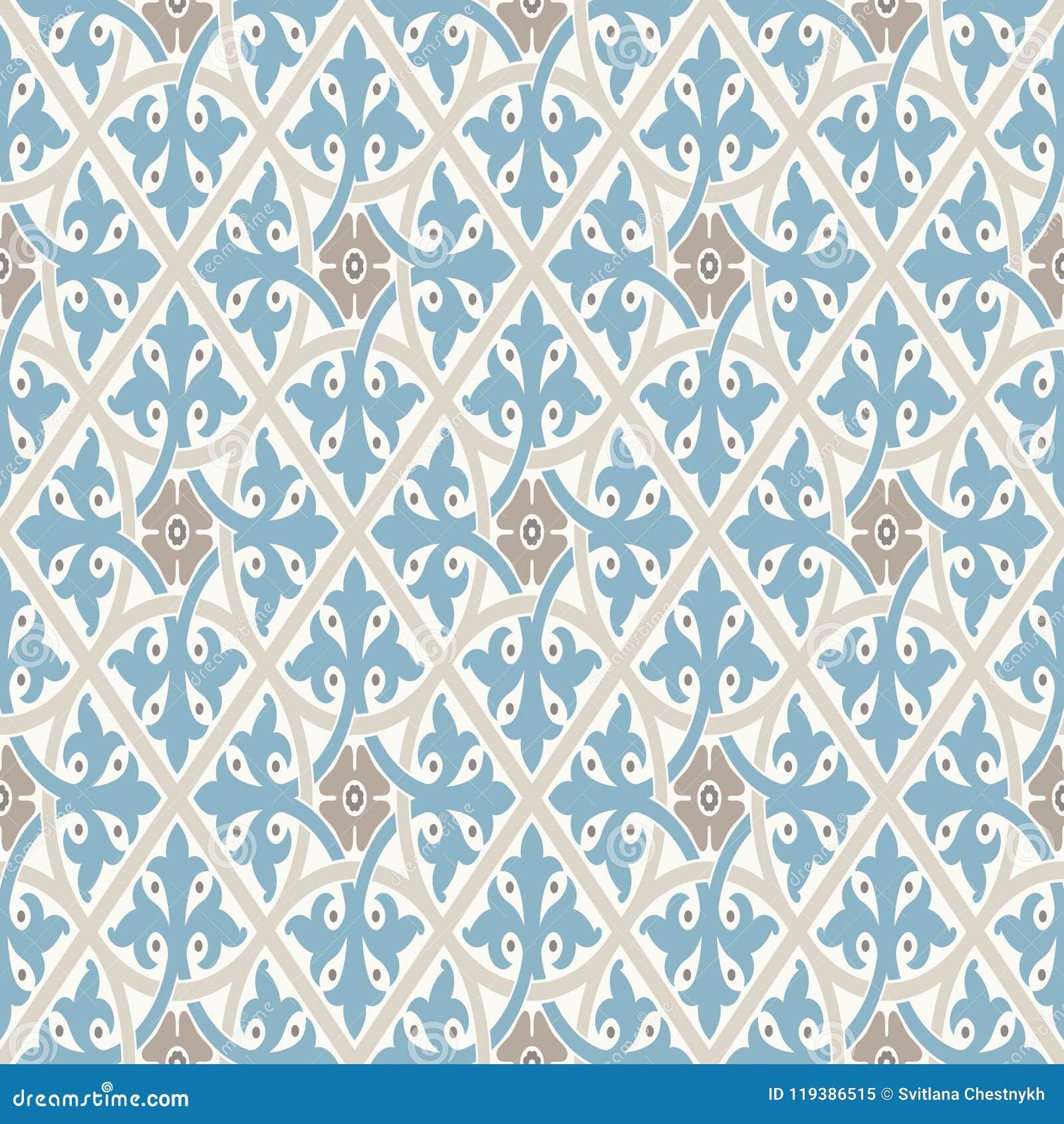 Download Nette Verzierung Modernes Geometrisches Muster, Angespornt Durch  Alte Tapeten Nette Retro  Farben