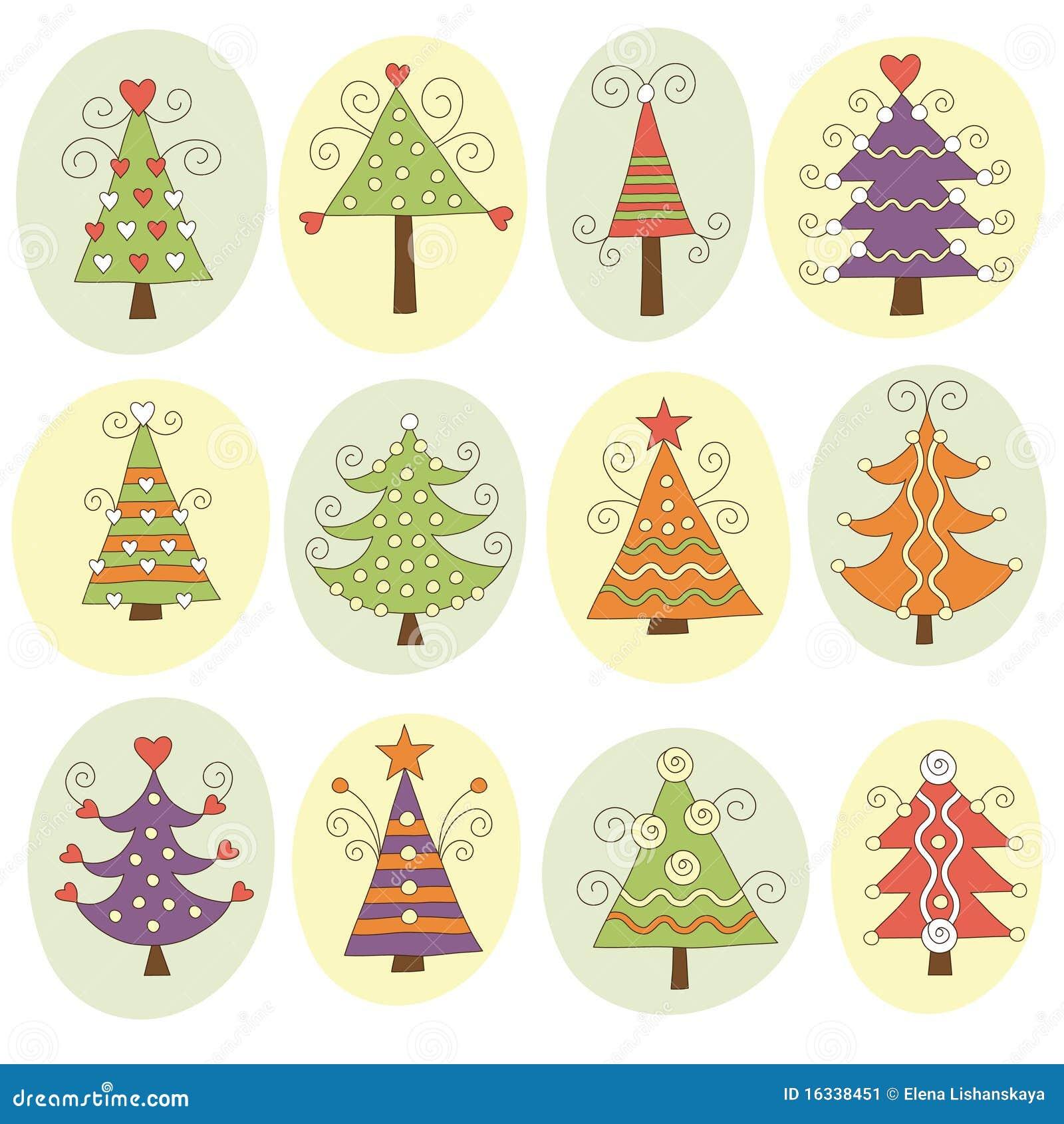 Nette Weihnachtsbäume