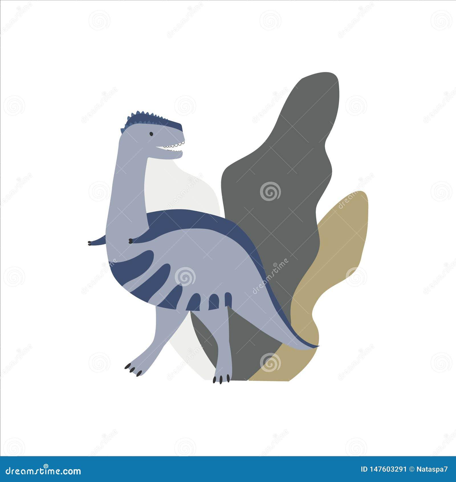 Netter Dinosaurier mit Anlagen