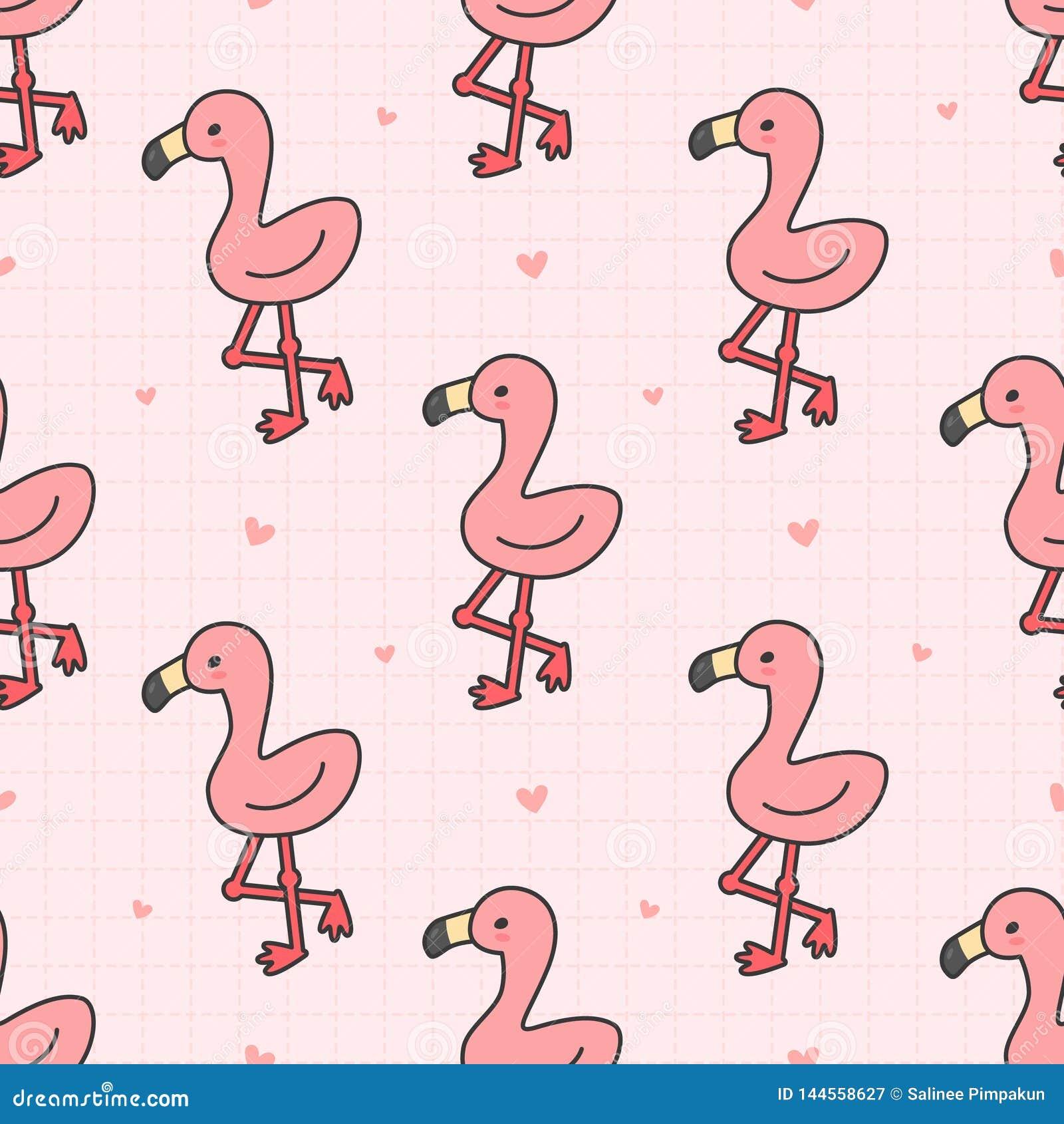Netter Flamingo nahtloser Muster-Hintergrund