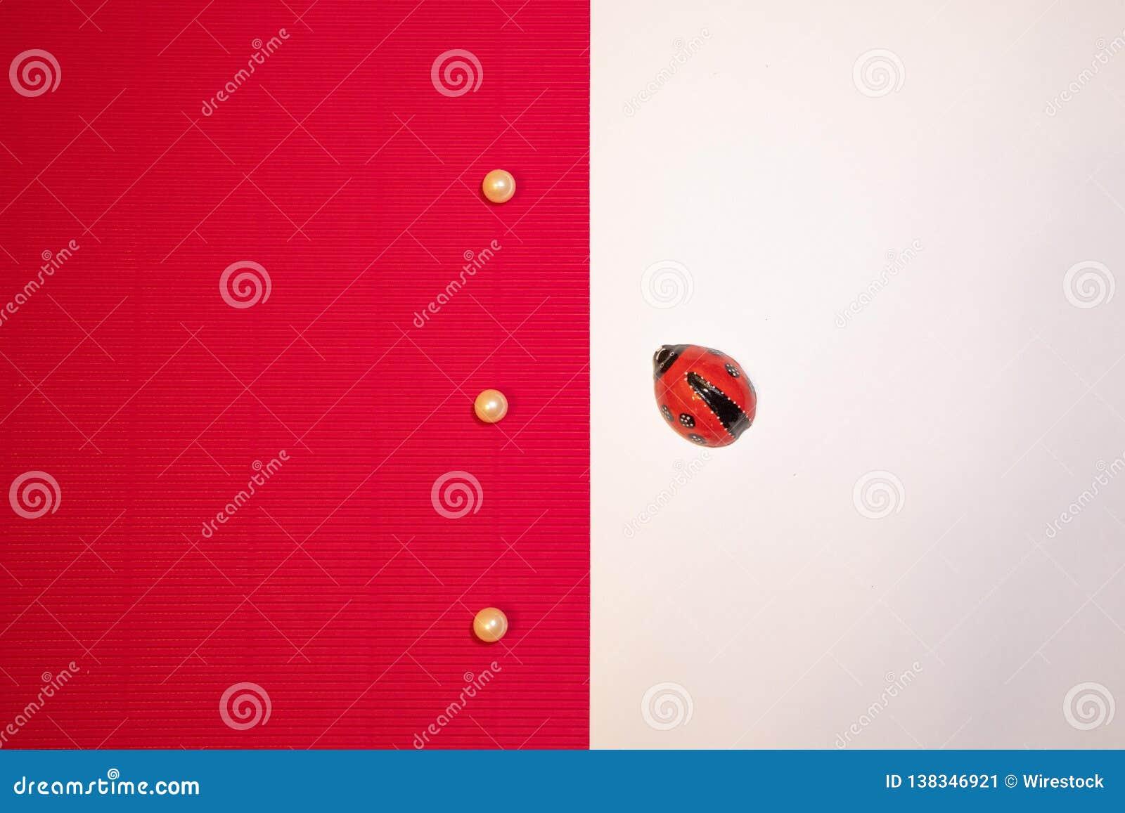 Netter Hintergrund mit einem Marienkäfer