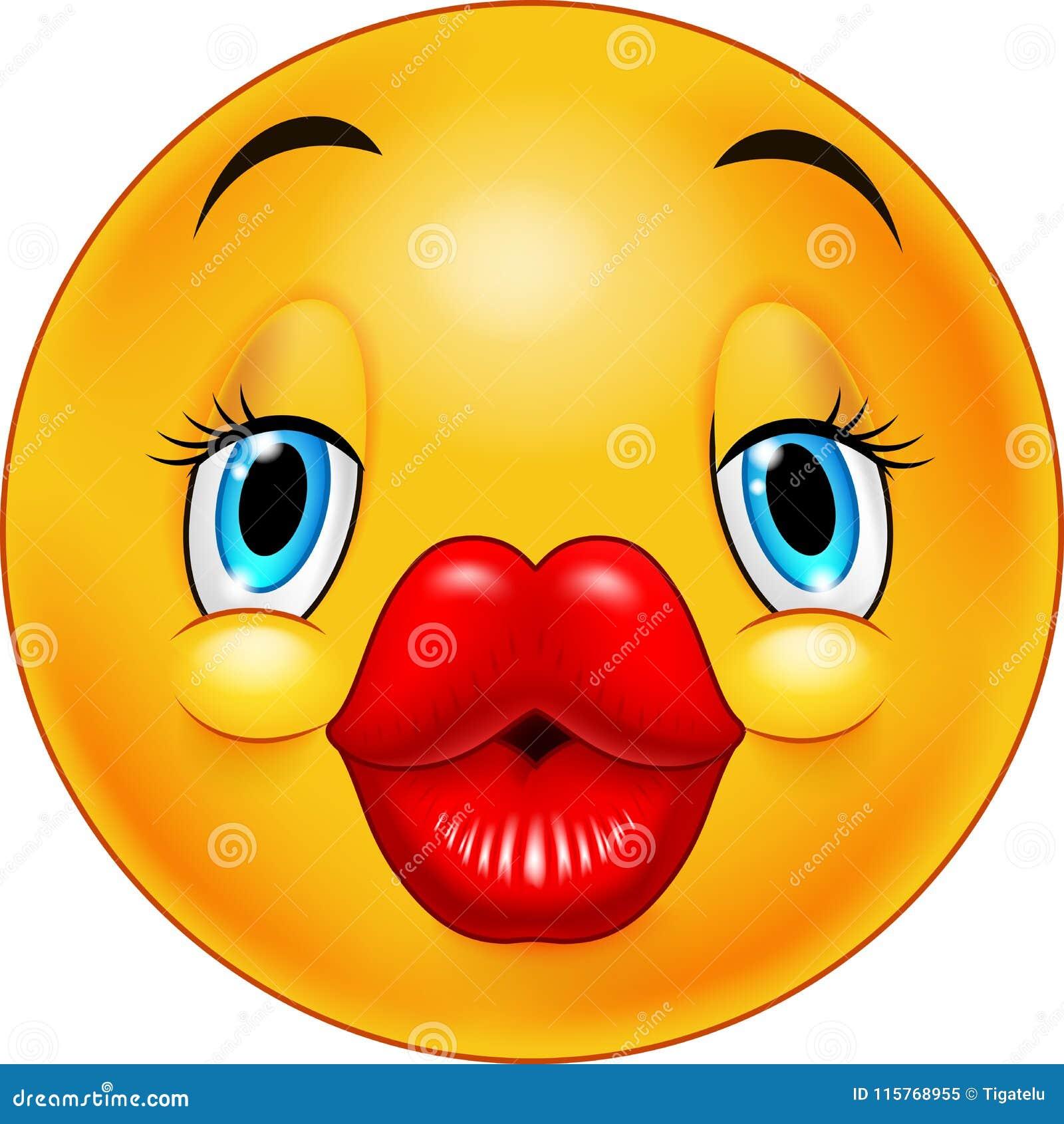 Netter küssender Emoticon vektor abbildung. Illustration