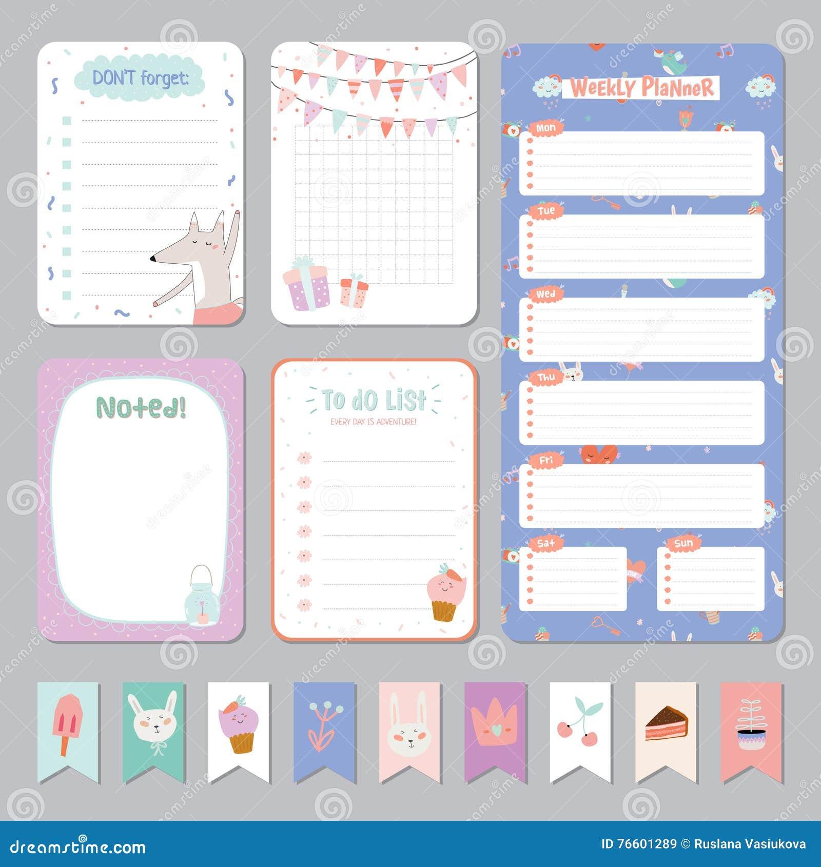 Netter Kalender-täglicher und wöchentlicher Planer
