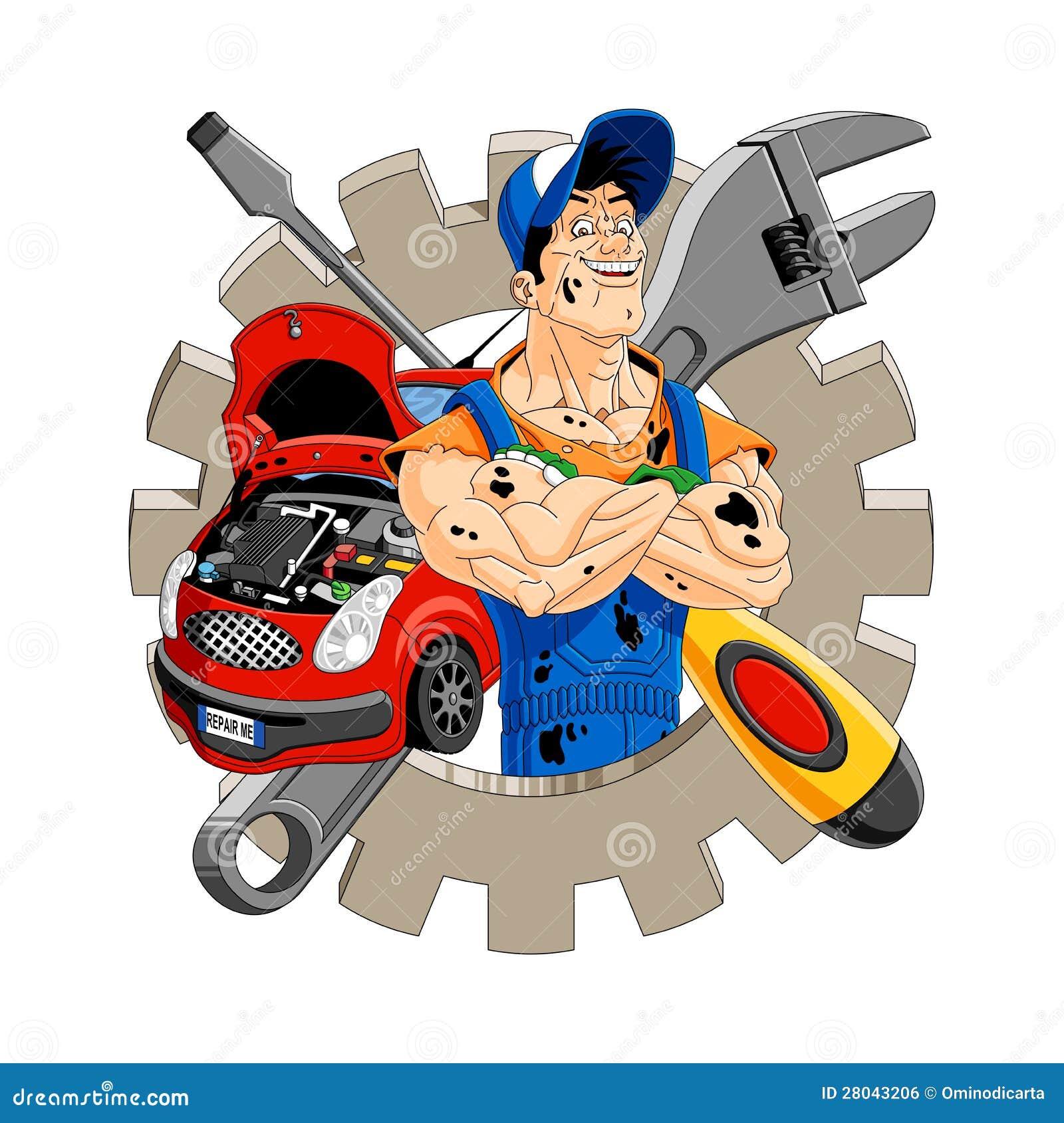 Netter Mechaniker