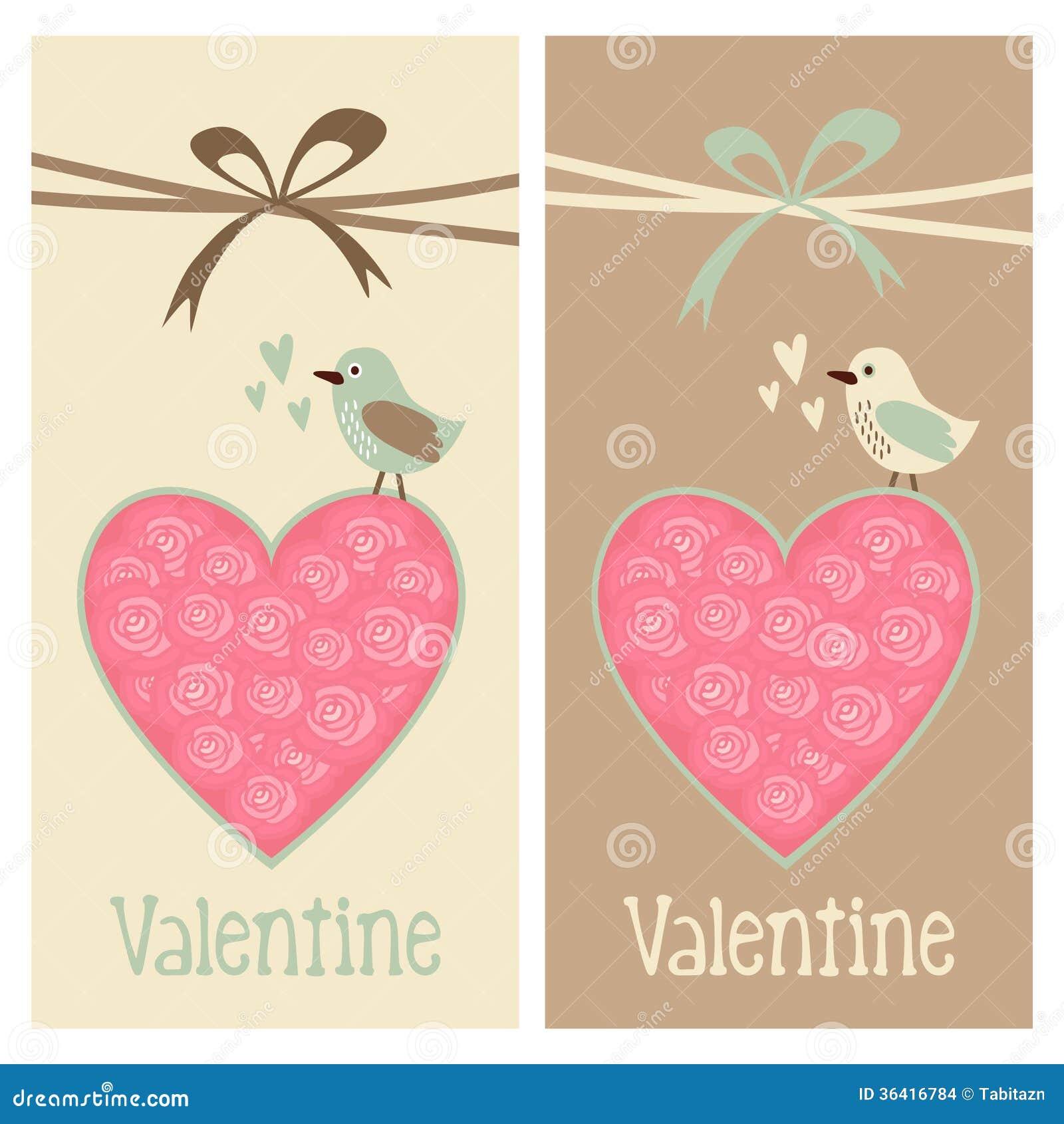 Netter Romantischer Satz Valentinsgrussgeburtstags Hochzeitskarten