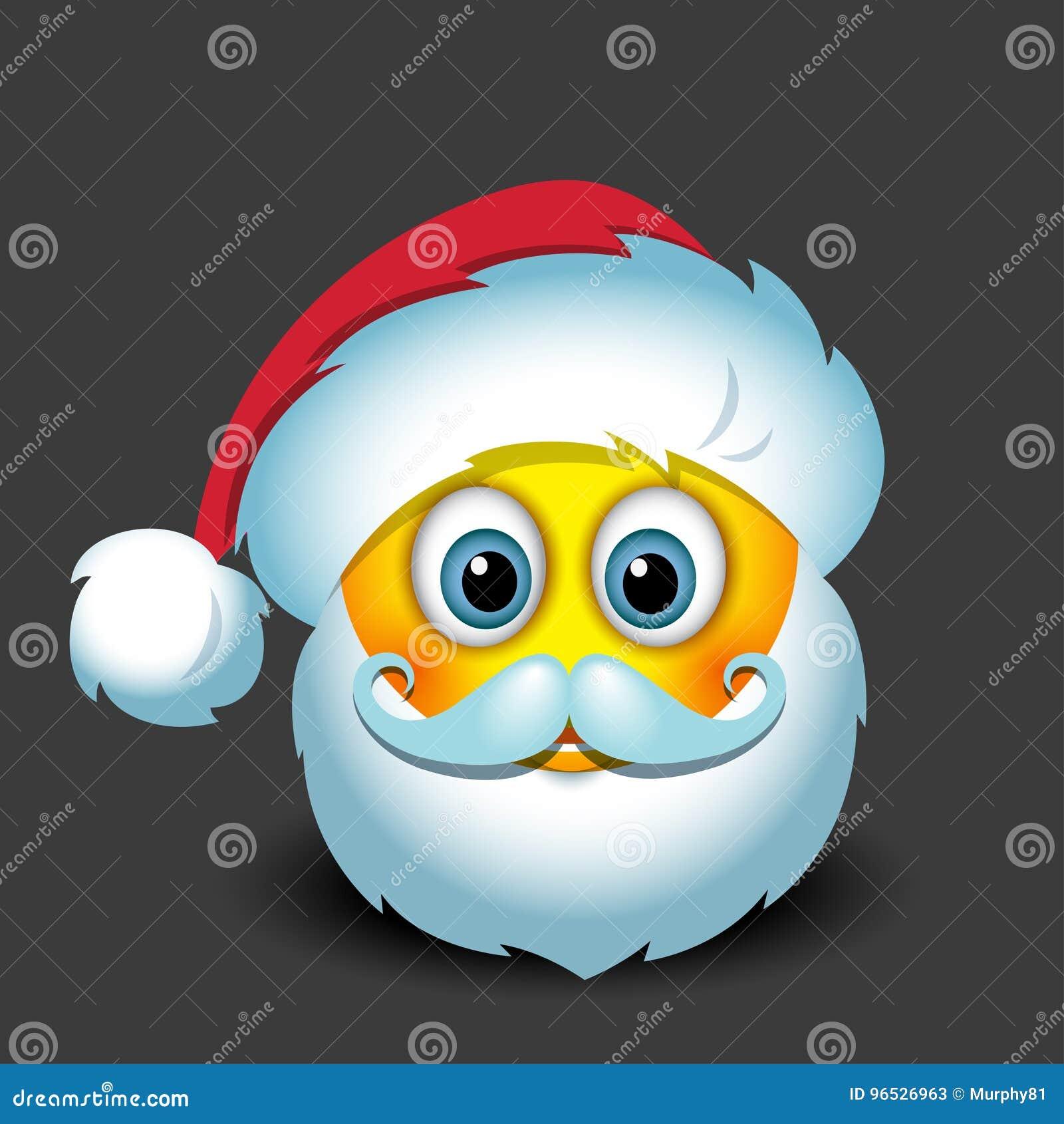 netter santa claus-emoticon, smiley, emoji - vector illustration vektor  abbildung - illustration von hintergrund, graphik: 96526963  dreamstime.com