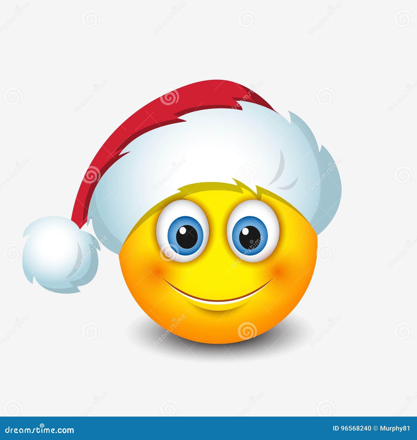 netter santa claus-emoticon, smiley, emoji - vector illustration vektor  abbildung - illustration von gelb, kugel: 96568240  dreamstime.com