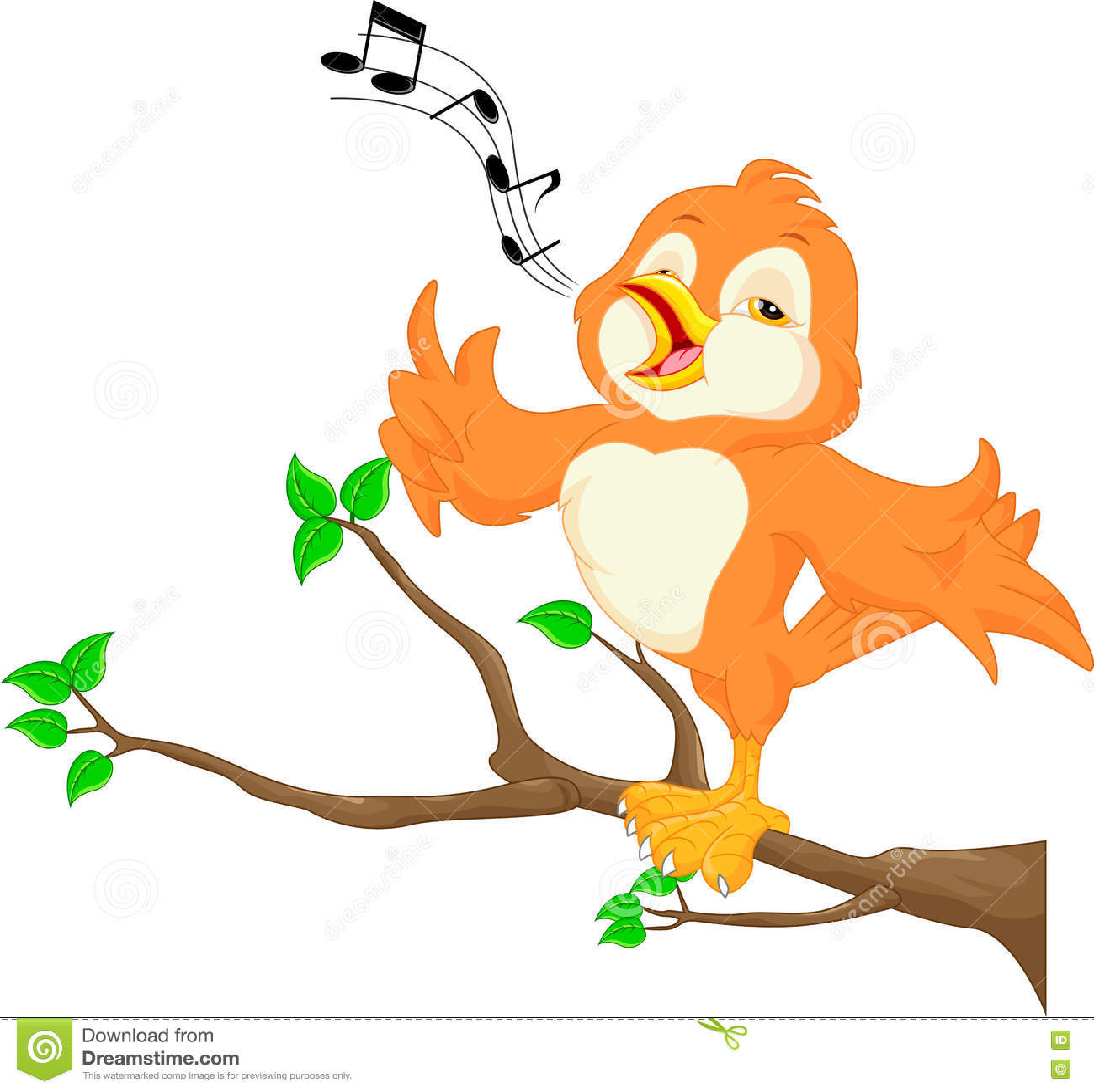 Netter singender vogel vektor abbildung illustration von
