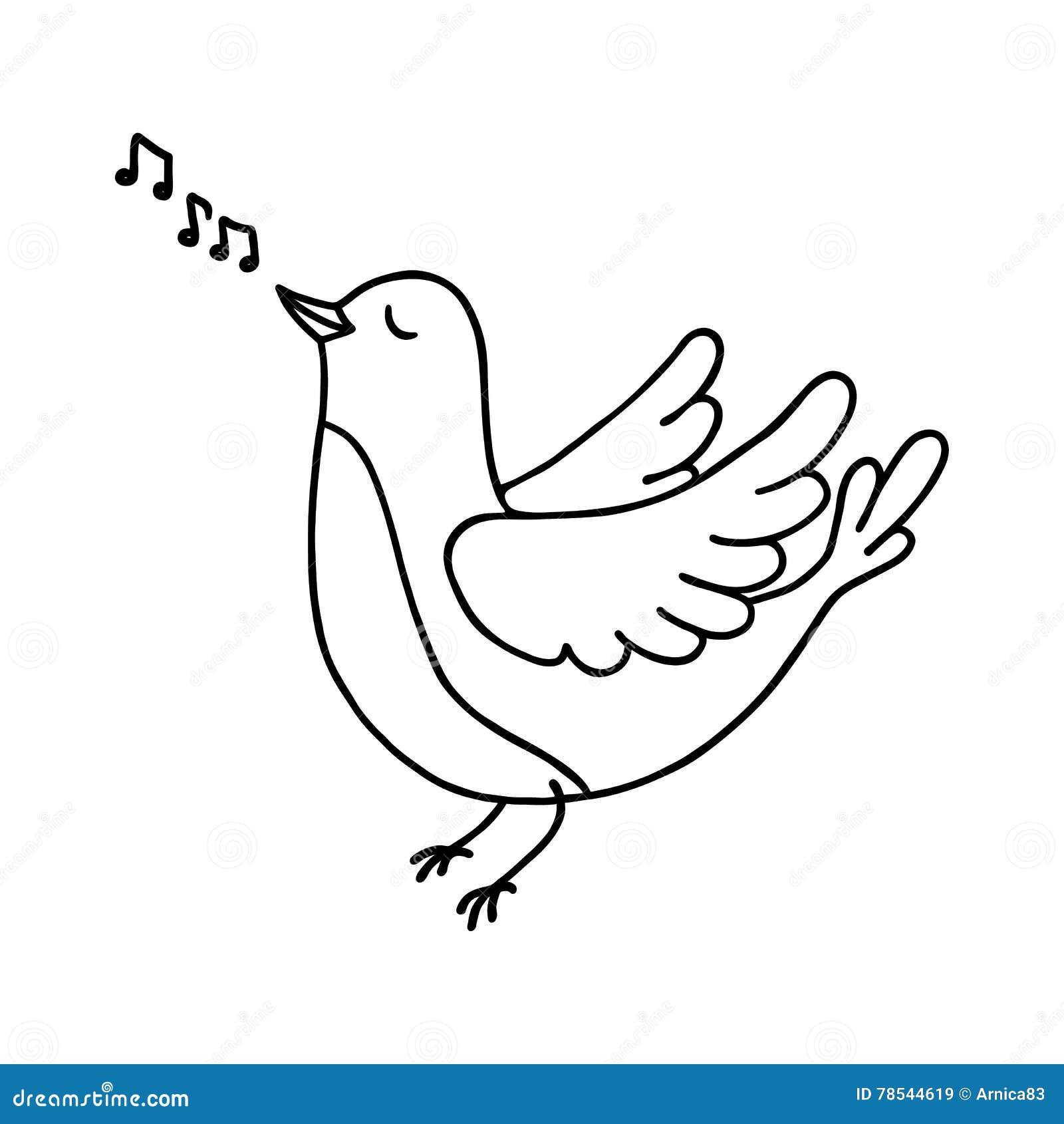 Netter singender vogel vektor abbildung bild von