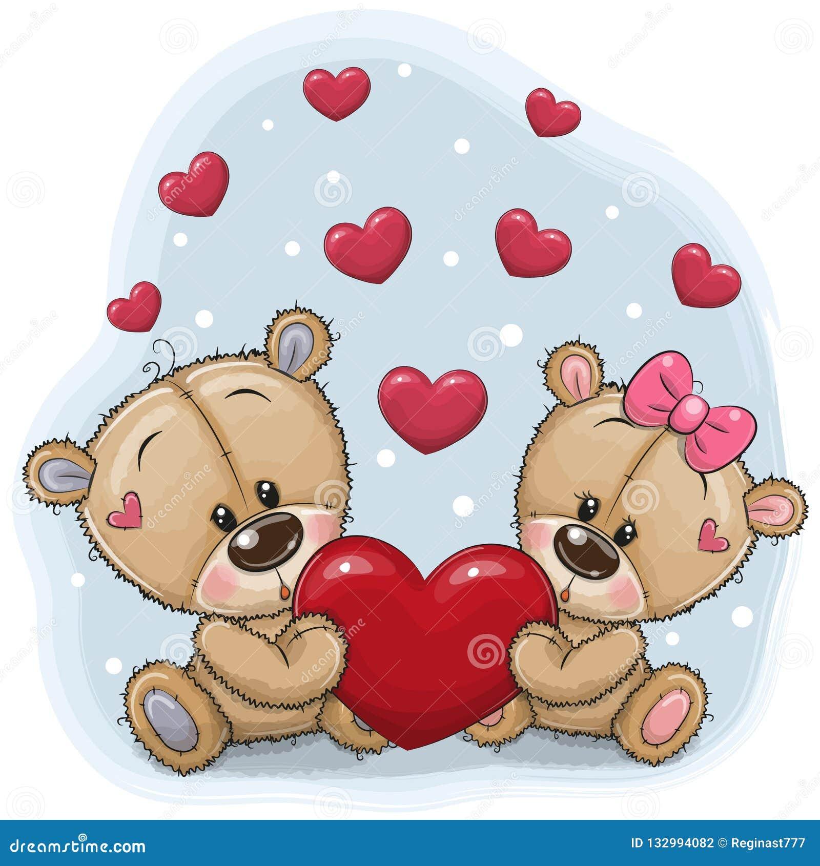 Netter Teddy Bears mit Herzen