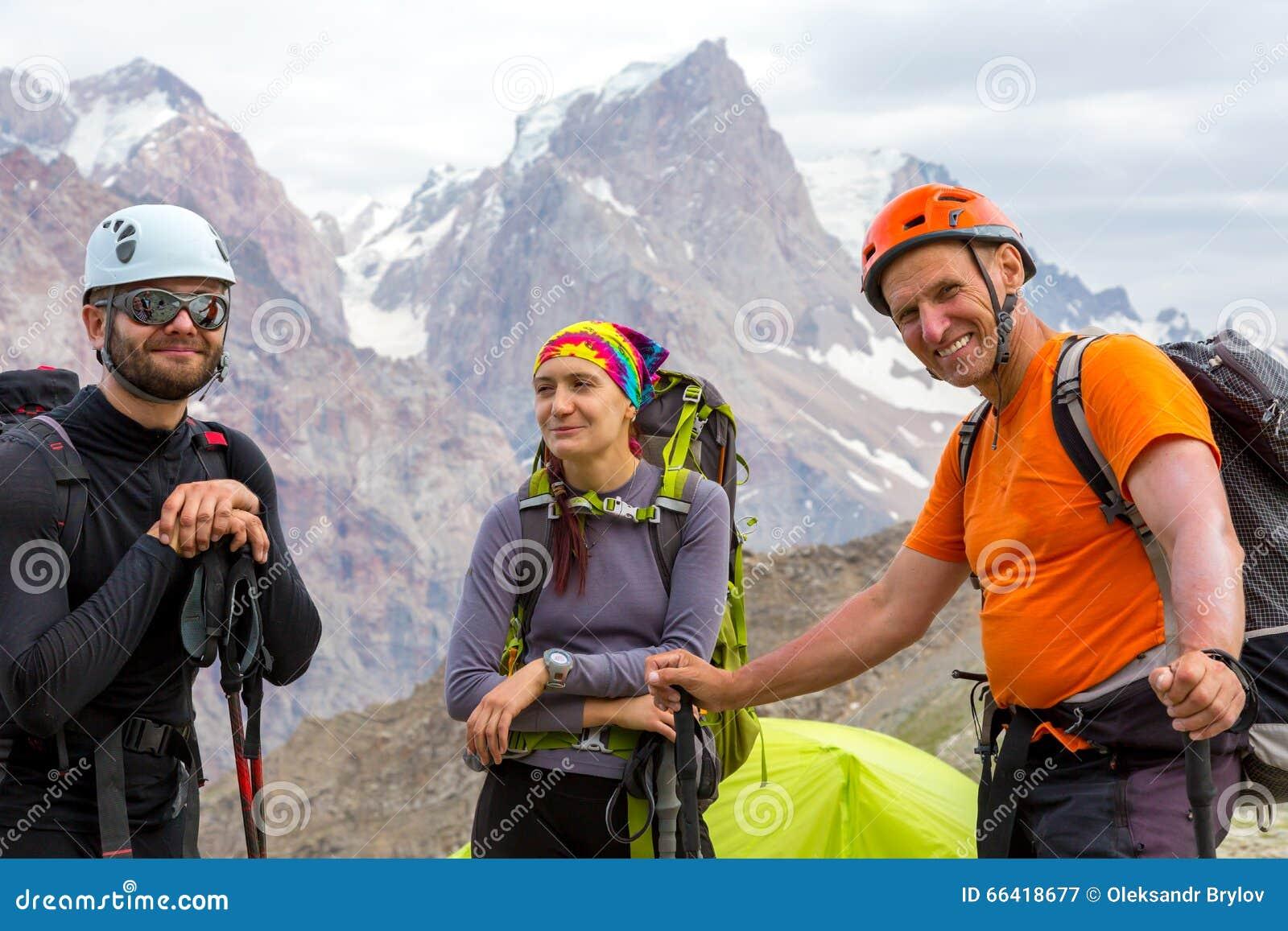 Nettes Bergsteigerporträt