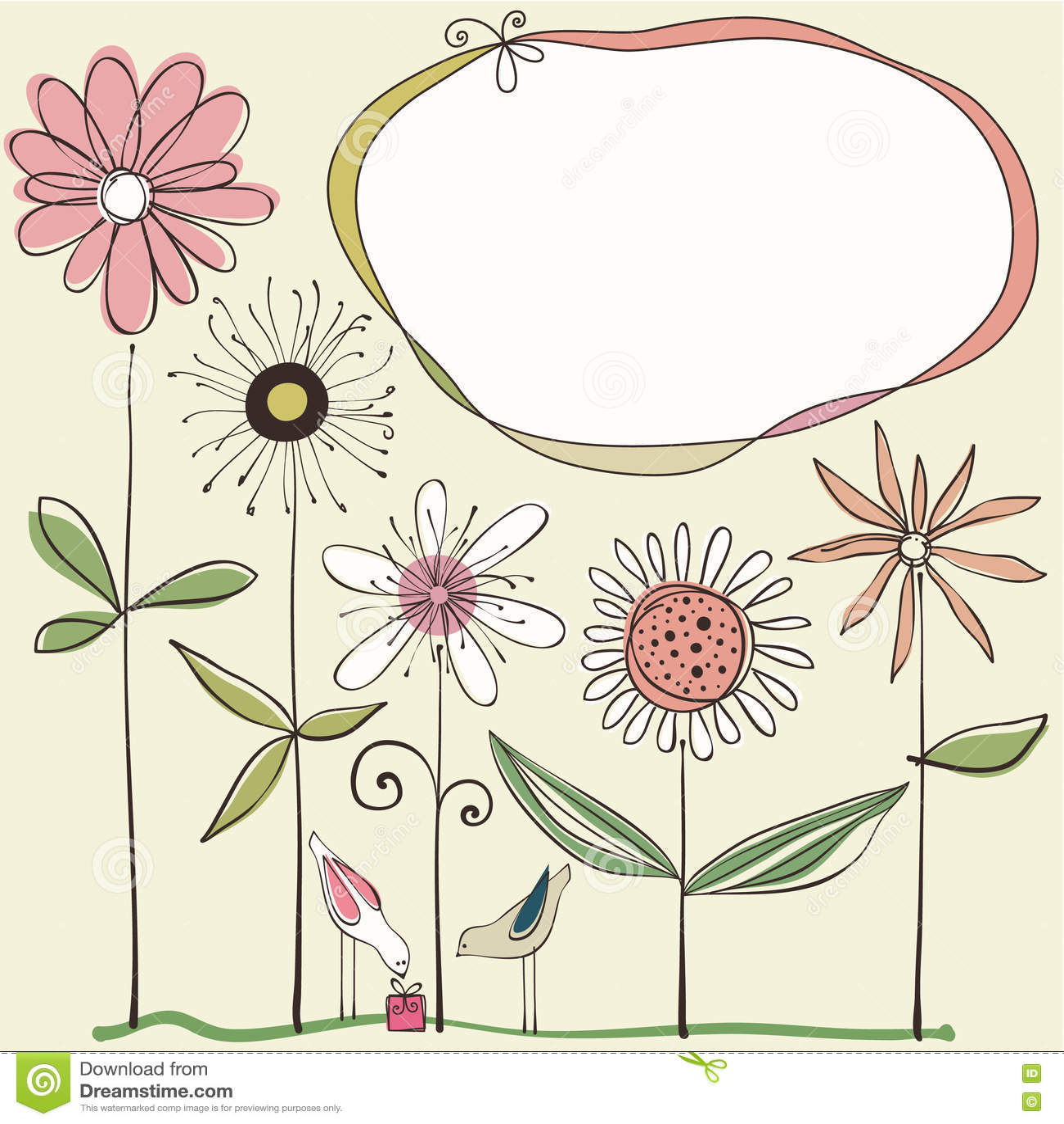 Nettes Blumenmuster