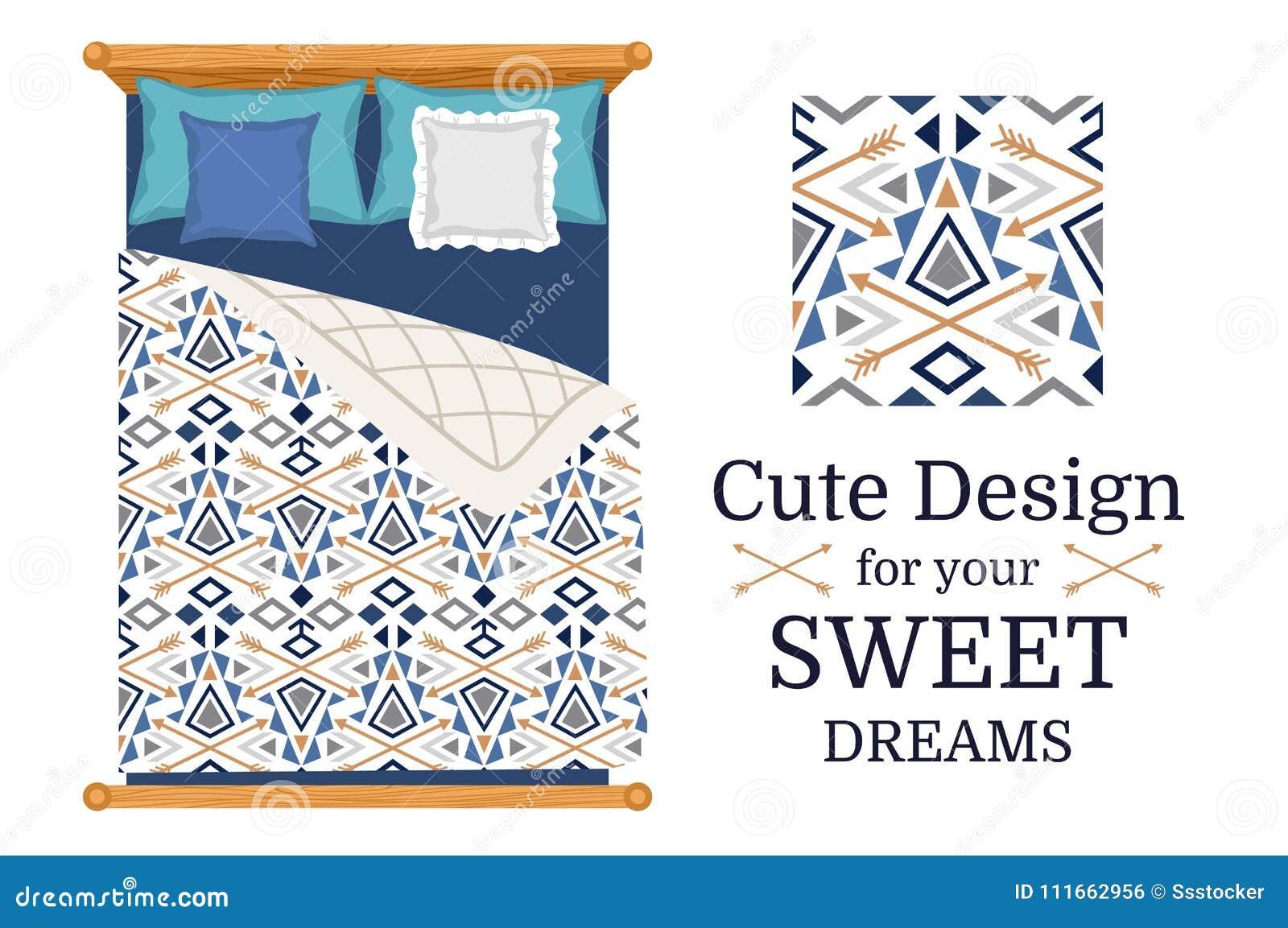 Nettes Design für Bettwäsche
