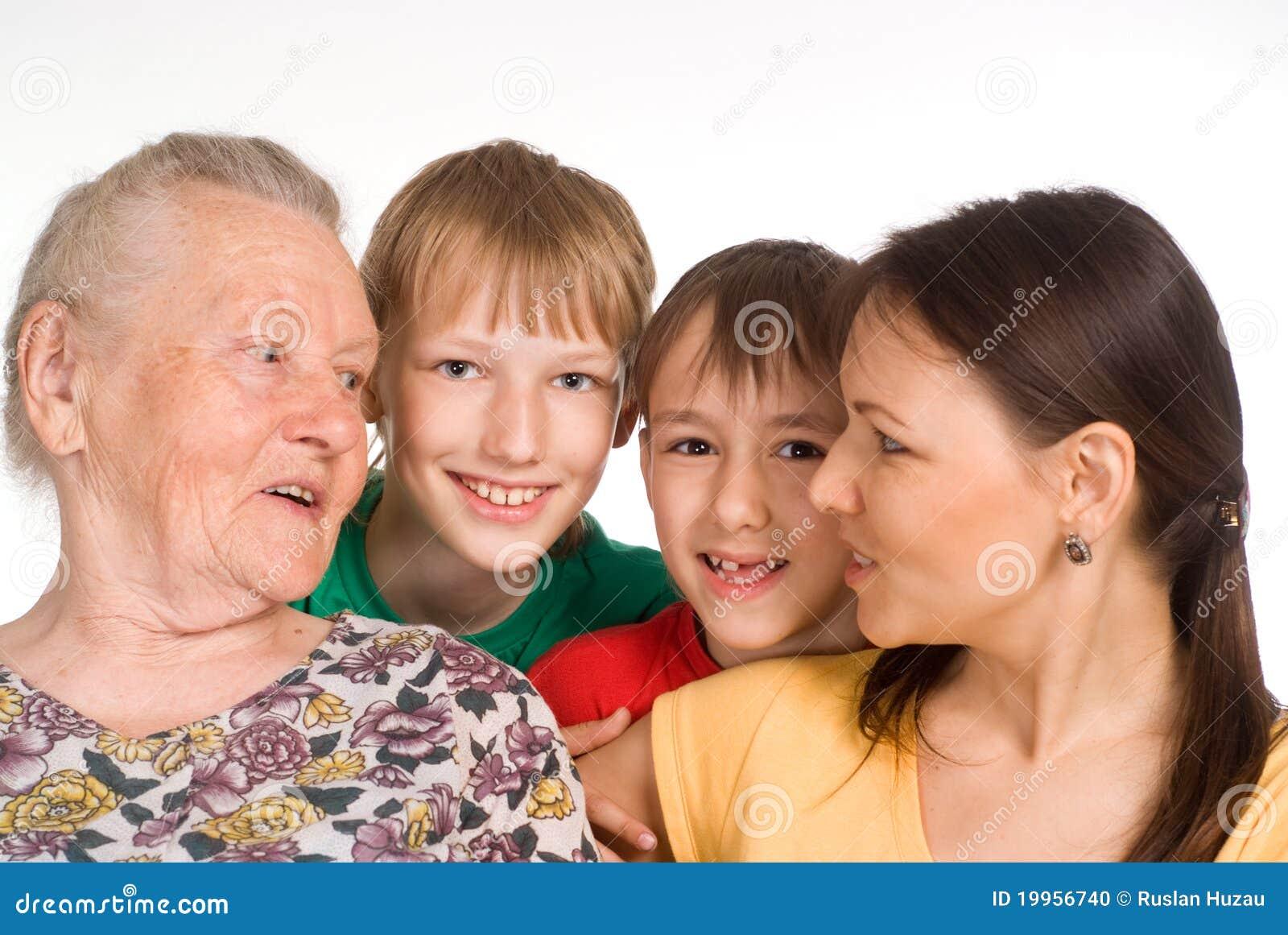 Nettes Familienfoto