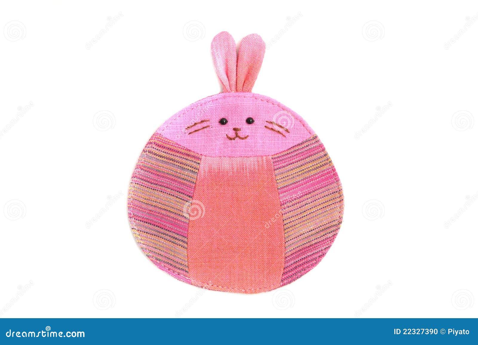 Nettes Kaninchen Nähen Durch Tuch Stockfoto - Bild von fashion ...