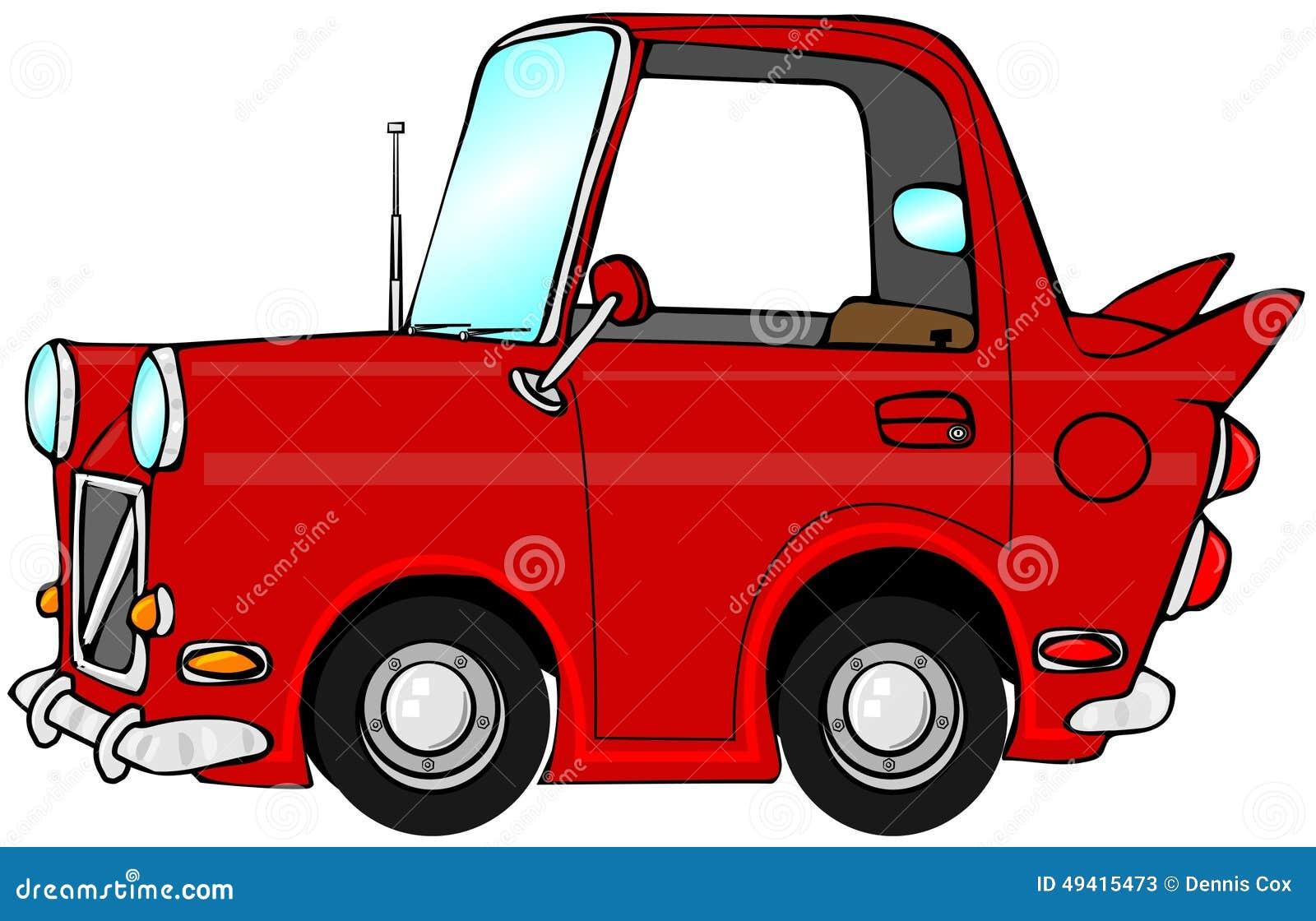 Download Nettes rotes Auto stock abbildung. Illustration von räder - 49415473