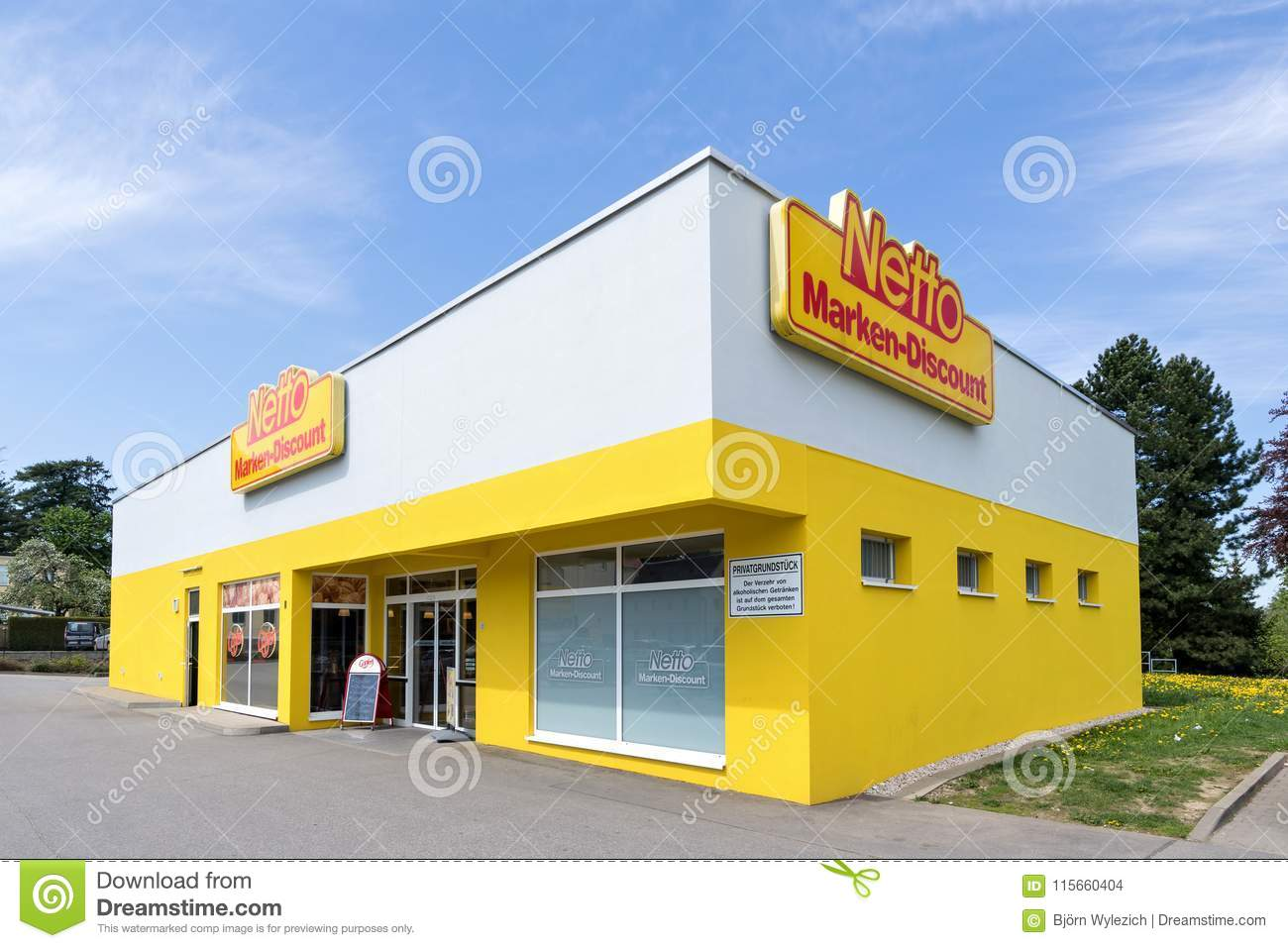 Netto Marken-Discount Branch Editorial Stock Image - Image of ...