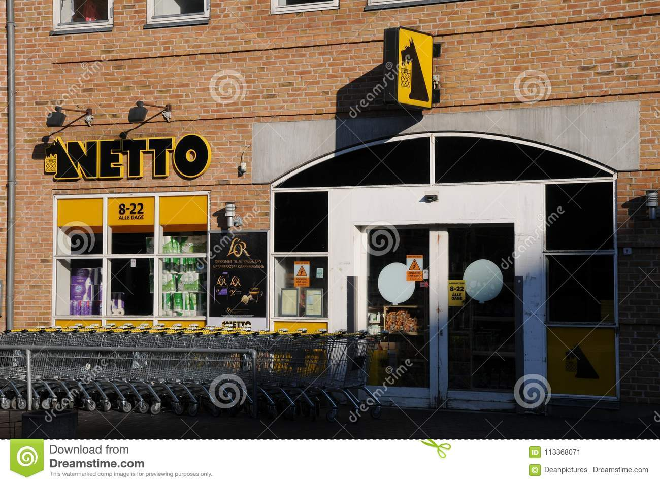 NETTO GROCERY STORE IS CLOSED DUE TO GOOD FRIDAY Editorial Photo ...