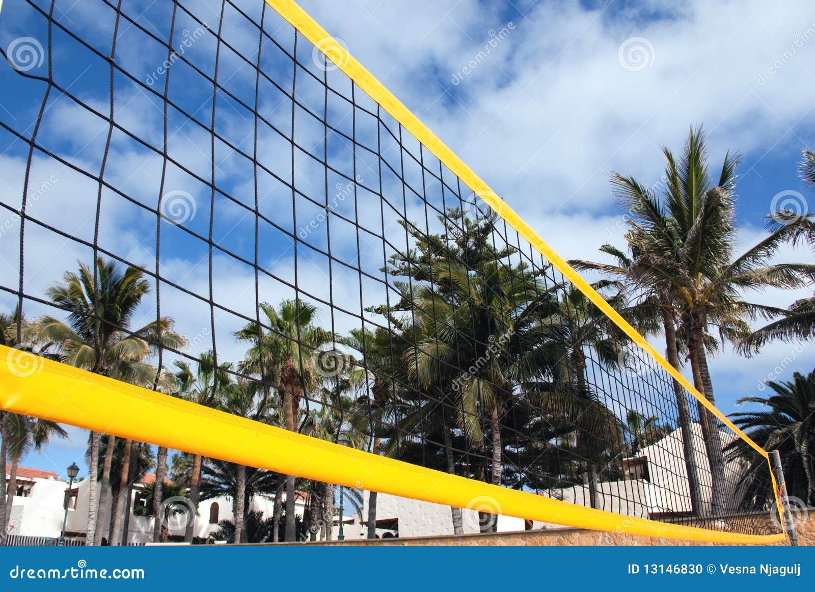 Netto het volleyball van het strand