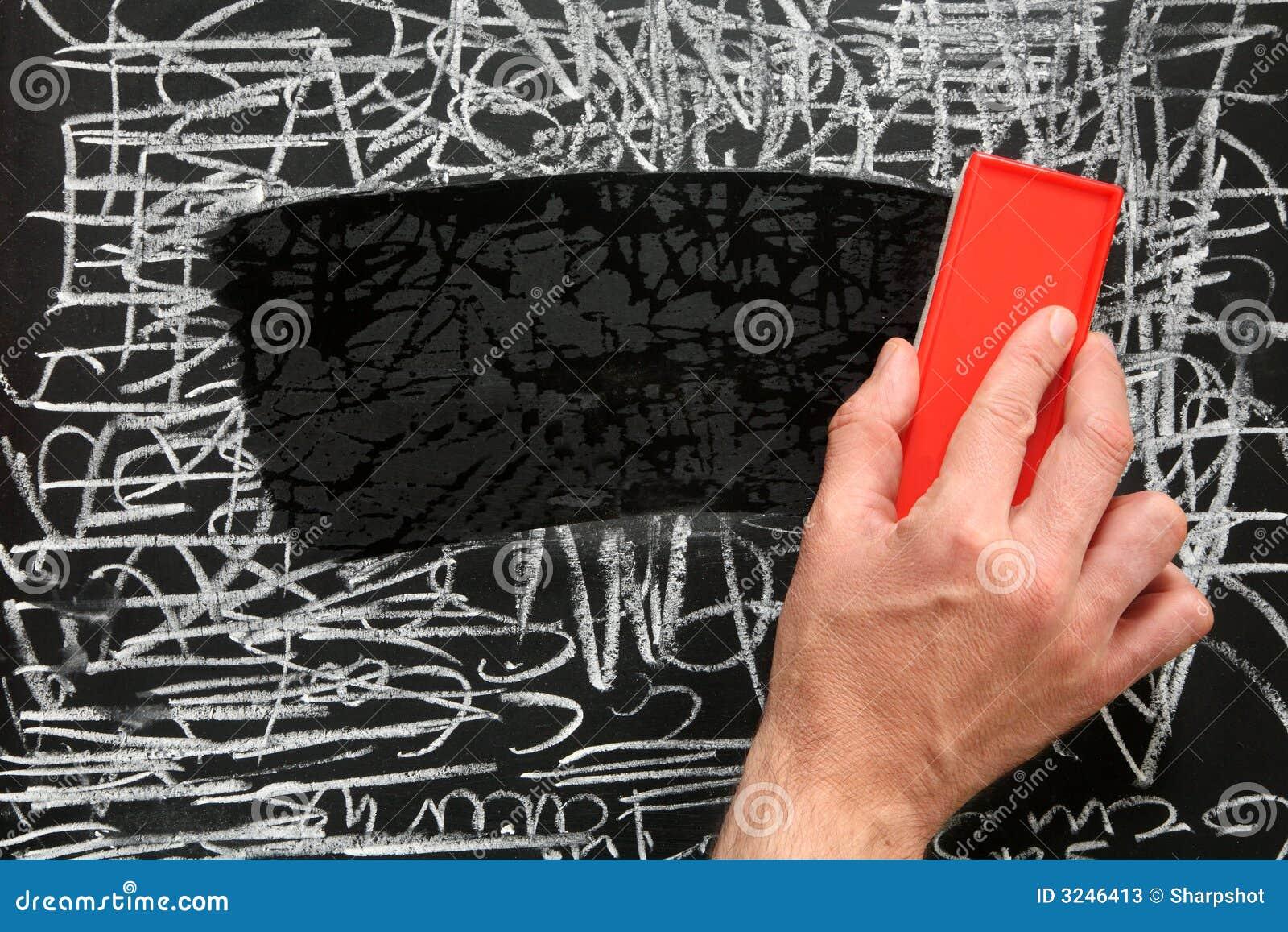 nettoyage d 39 un tableau noir photos stock image 3246413. Black Bedroom Furniture Sets. Home Design Ideas